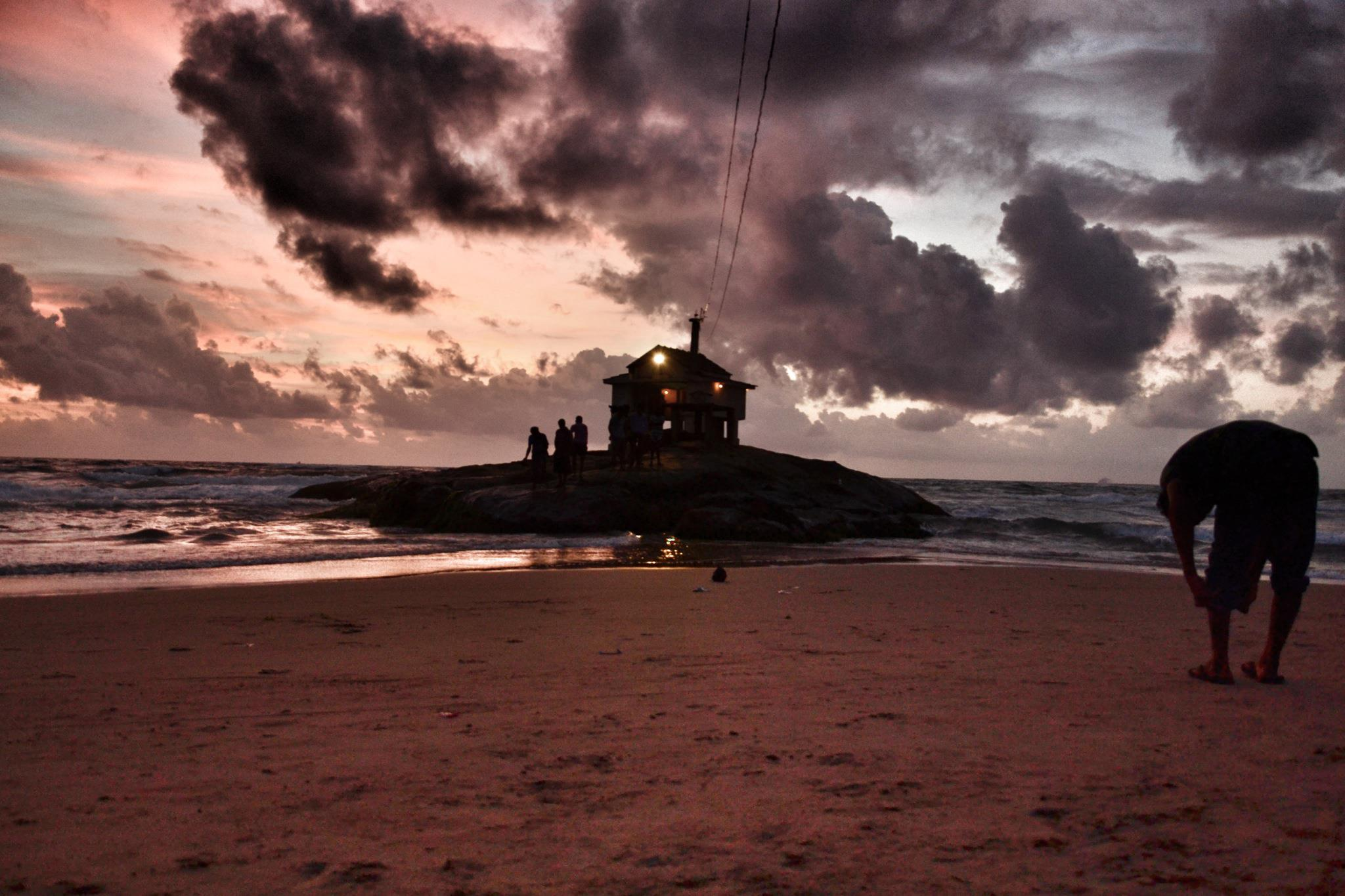 Evening Sunset by Mount Lavinia-Colombo