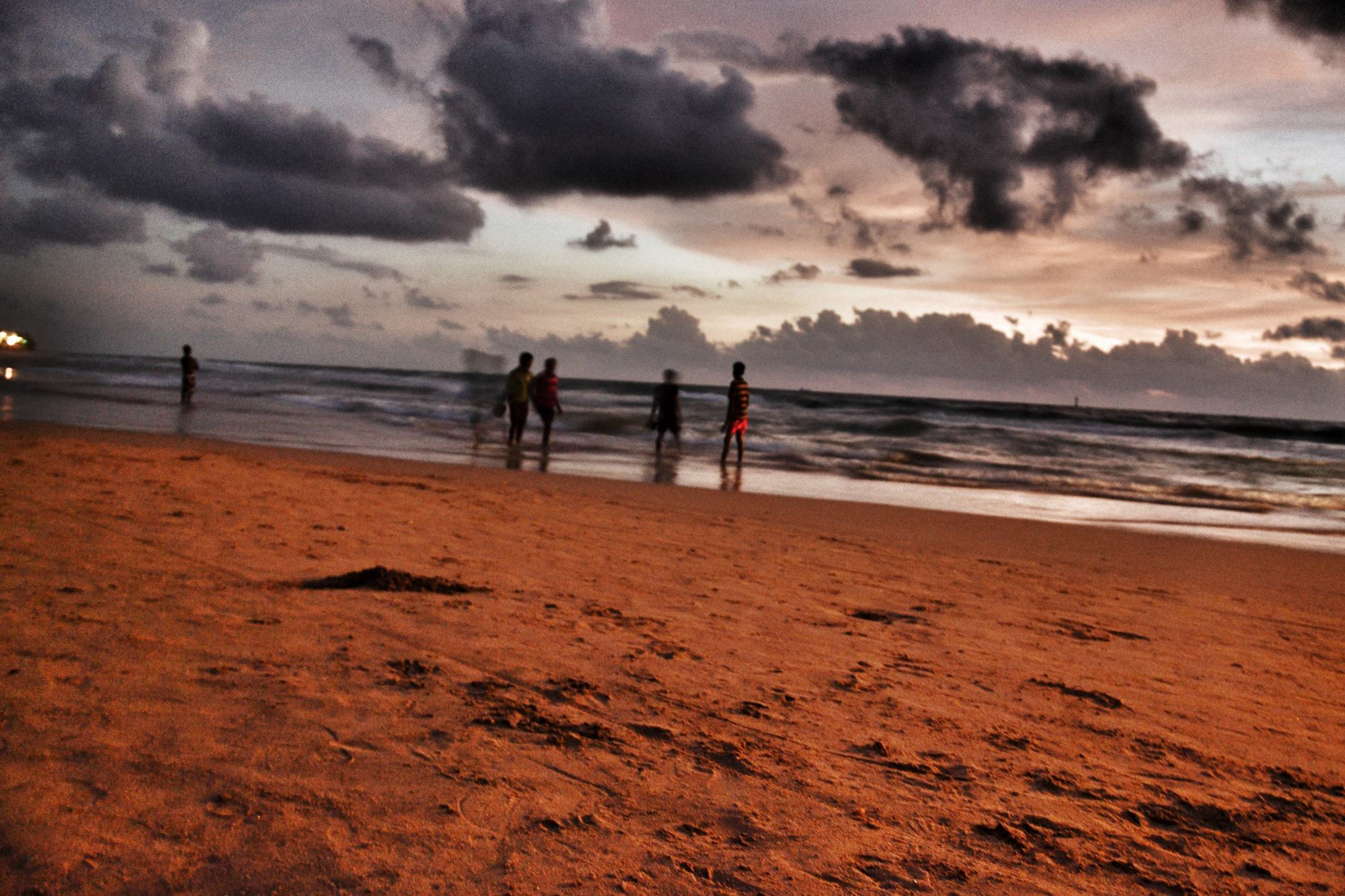 Evening sunset at Mount Lavinia in Colombo