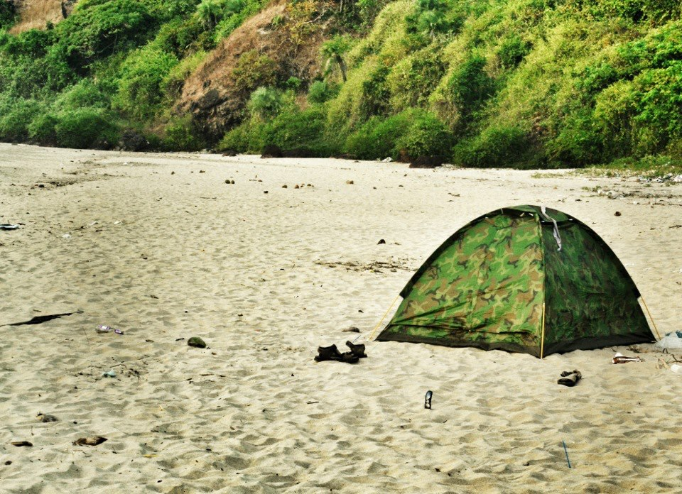 Tented at Arambol