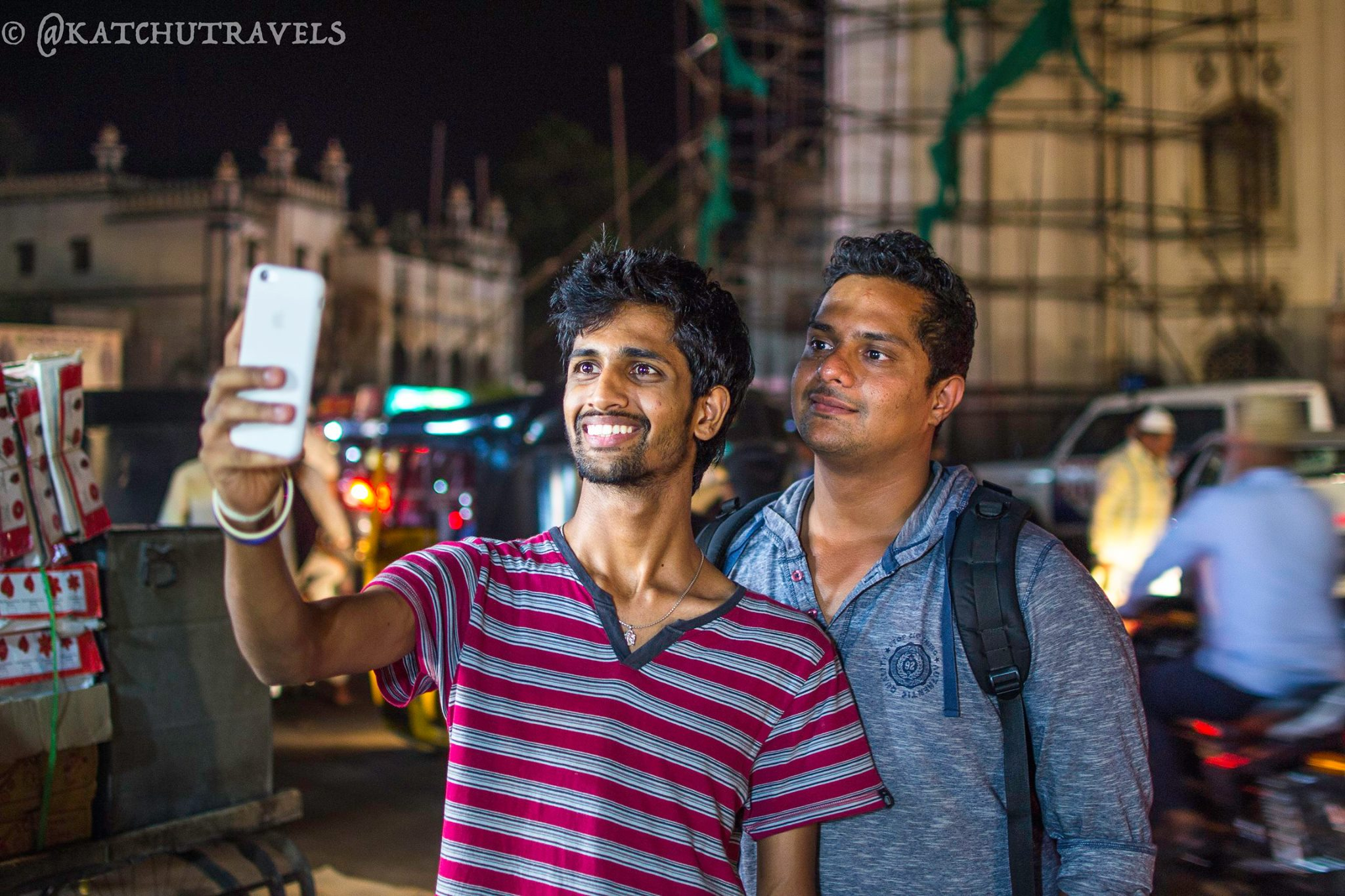 Travellers taking a Charminar Selfie