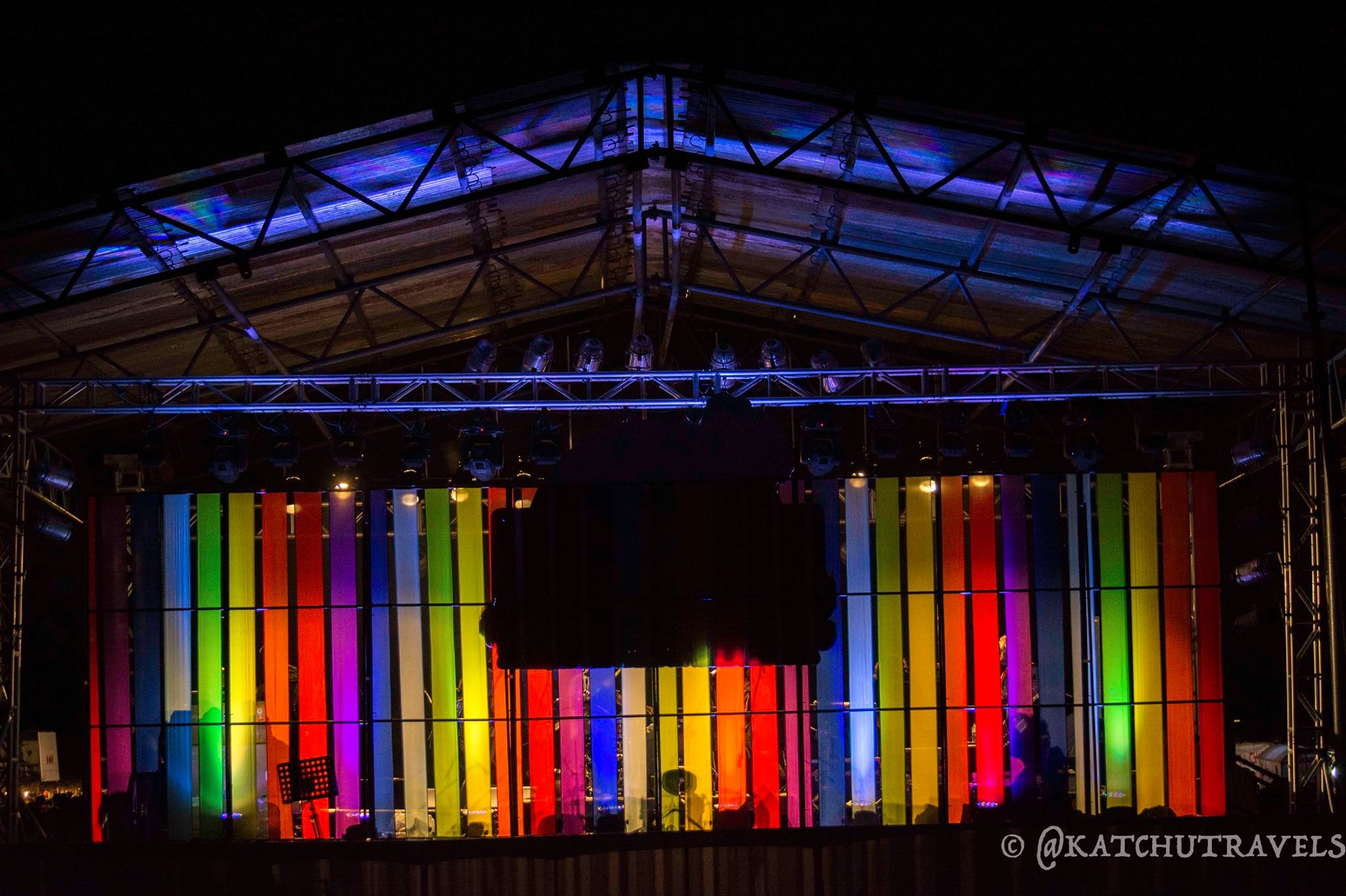 Backview of the Stage at the Covelong Music Festival