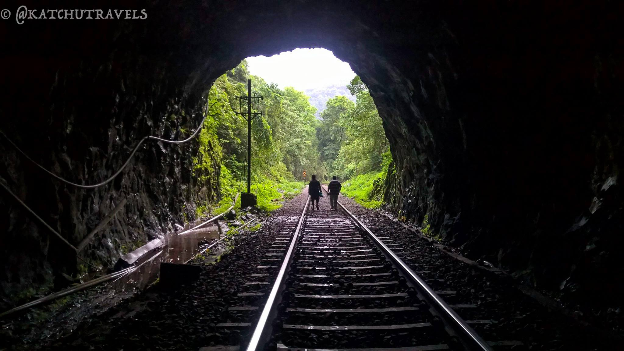 Trekking through the railway tracks in Goa on the Dudhsagar Waterfalls Trail