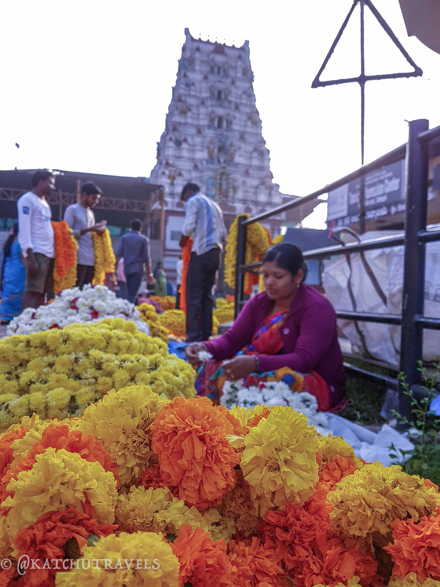 Flower Seller at Udupi's Sri Krishna Temple