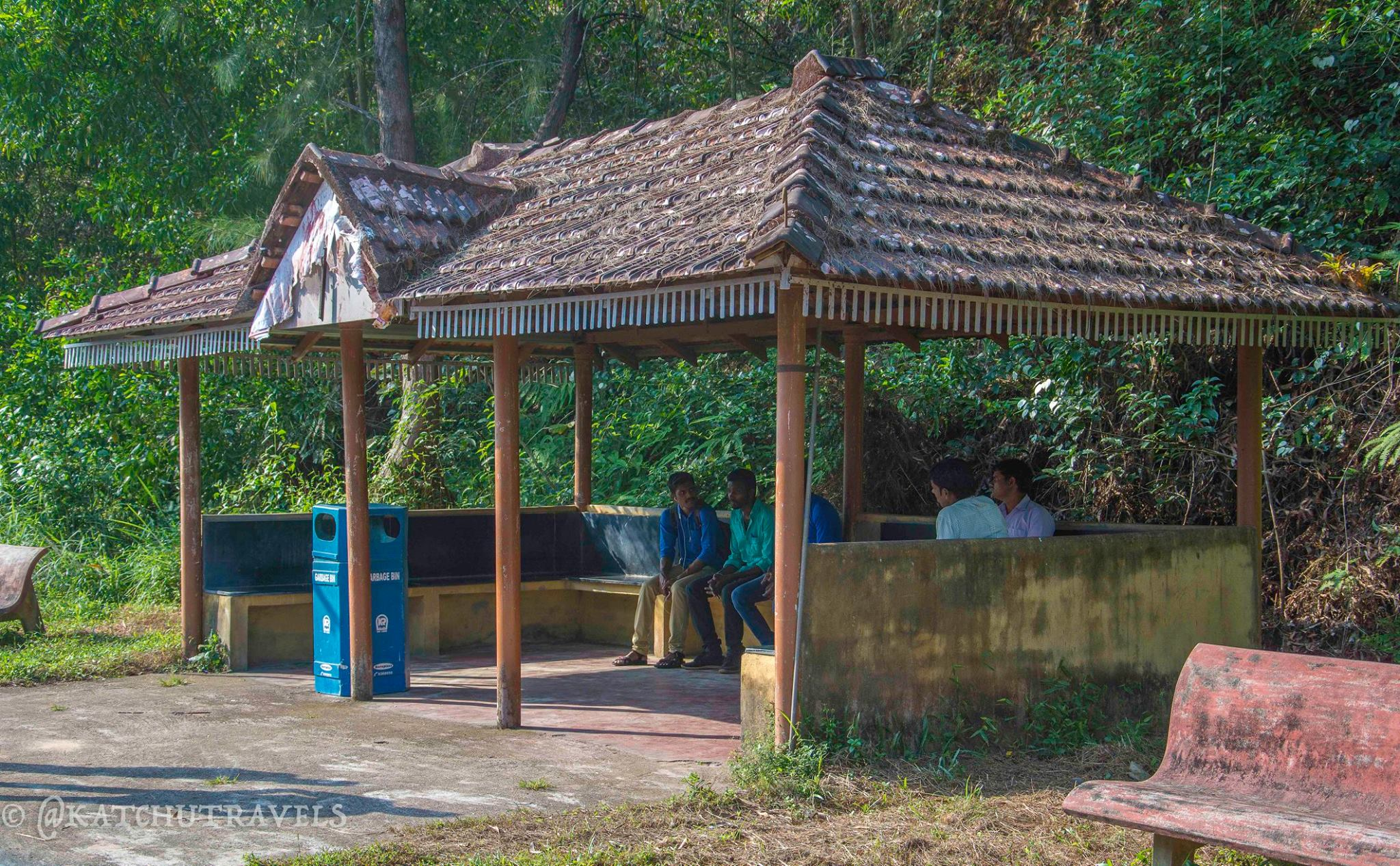 The simplicity of railway shelters at Barkur Railway Station