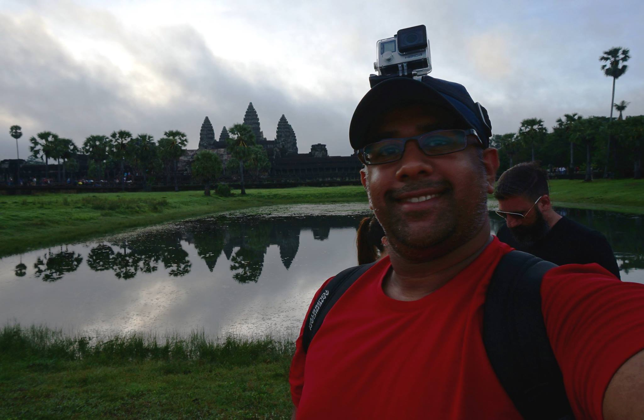 Nikhilesh Murthy in Cambodia, trying to cover a sunrise at Angkor Vat