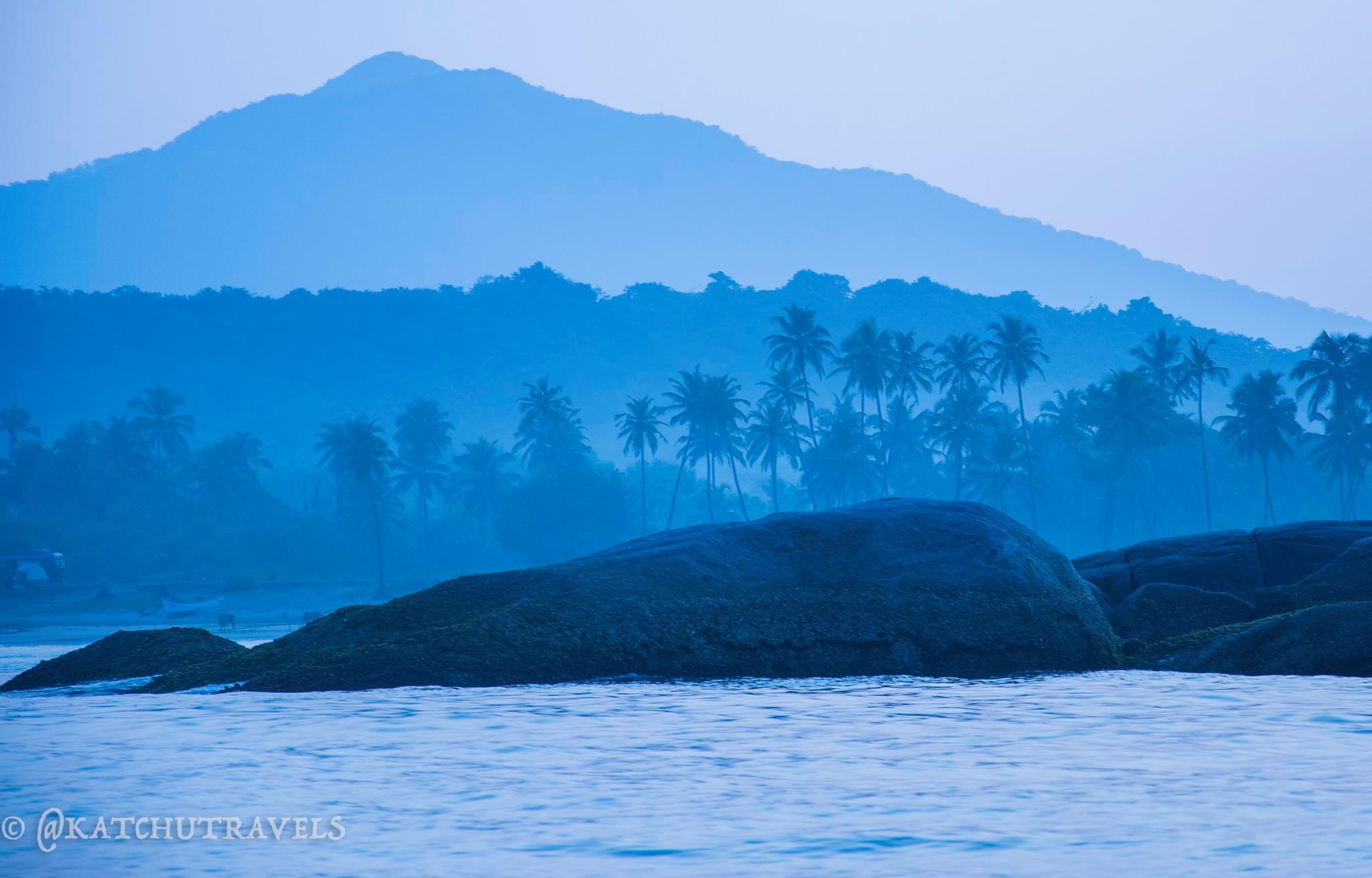 Agonda Beach in Goa, as viewed from the Arabian Sea