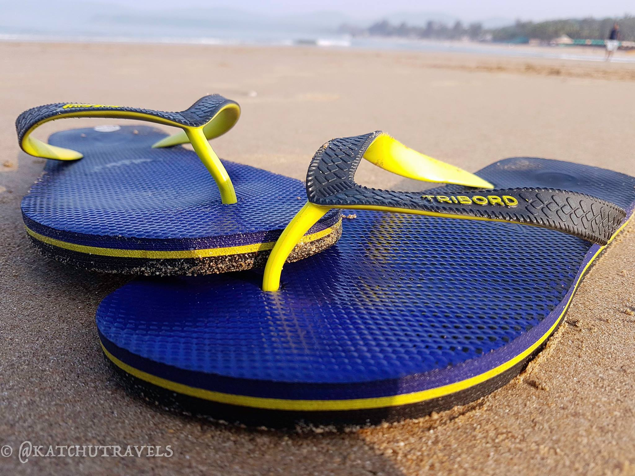 Showing off my Tribord slippers at Agonda (Goa)