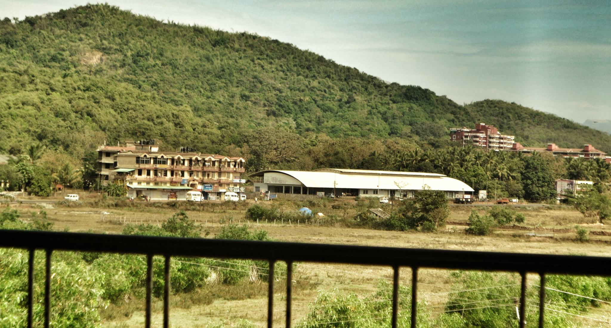 The view of the Kadamba Bus station at Chaudi near Canacona Railway Station in Goa