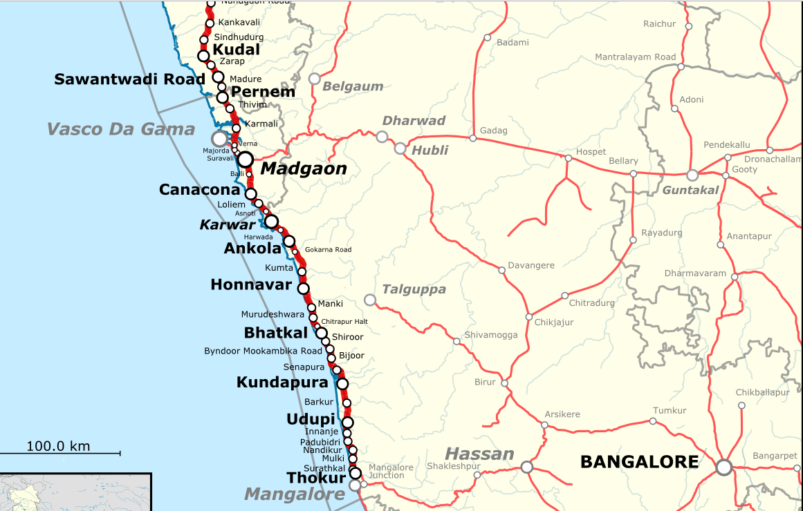 Konkan Railway Map