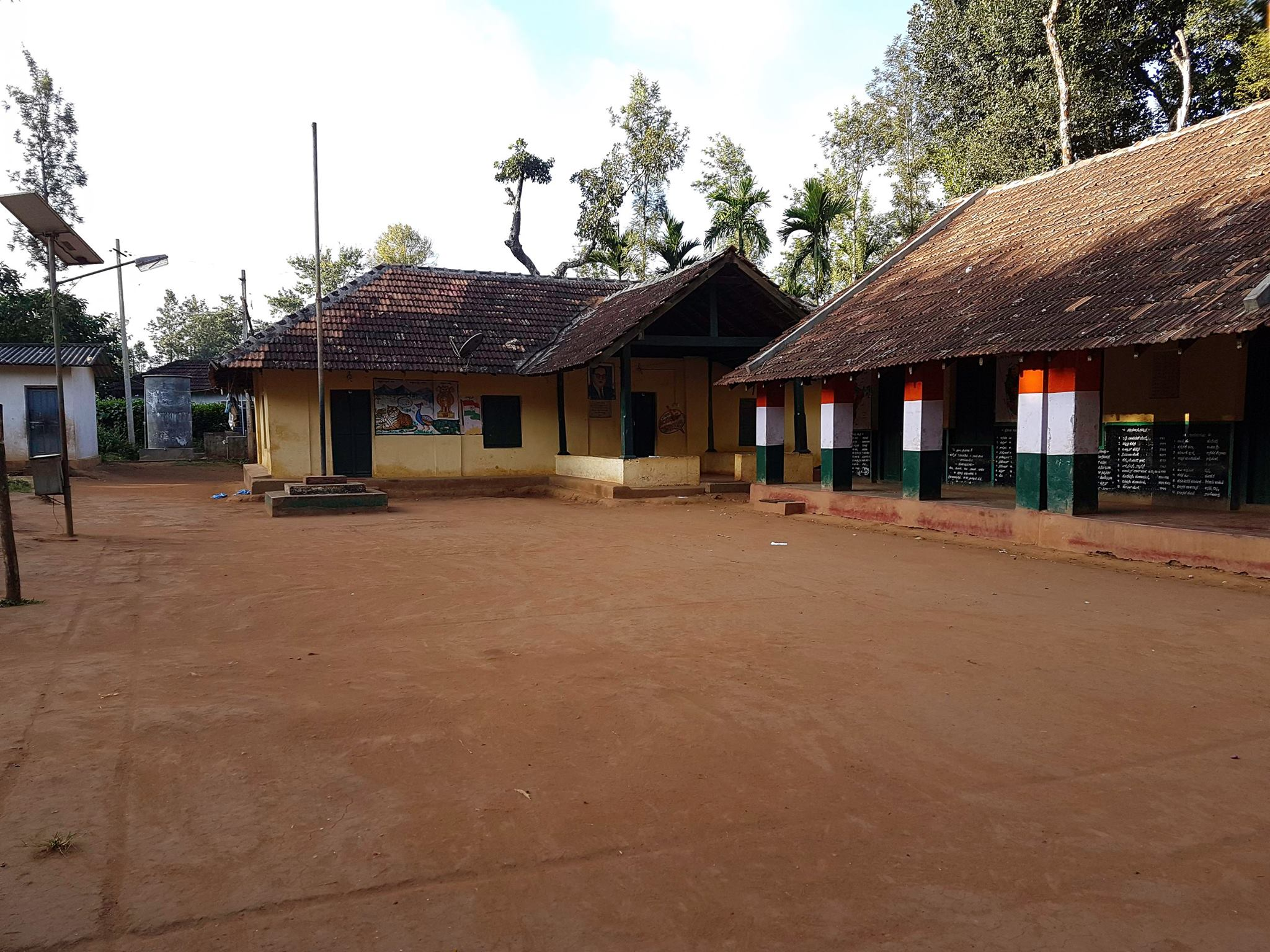 School in Jagale Estate-Coorg