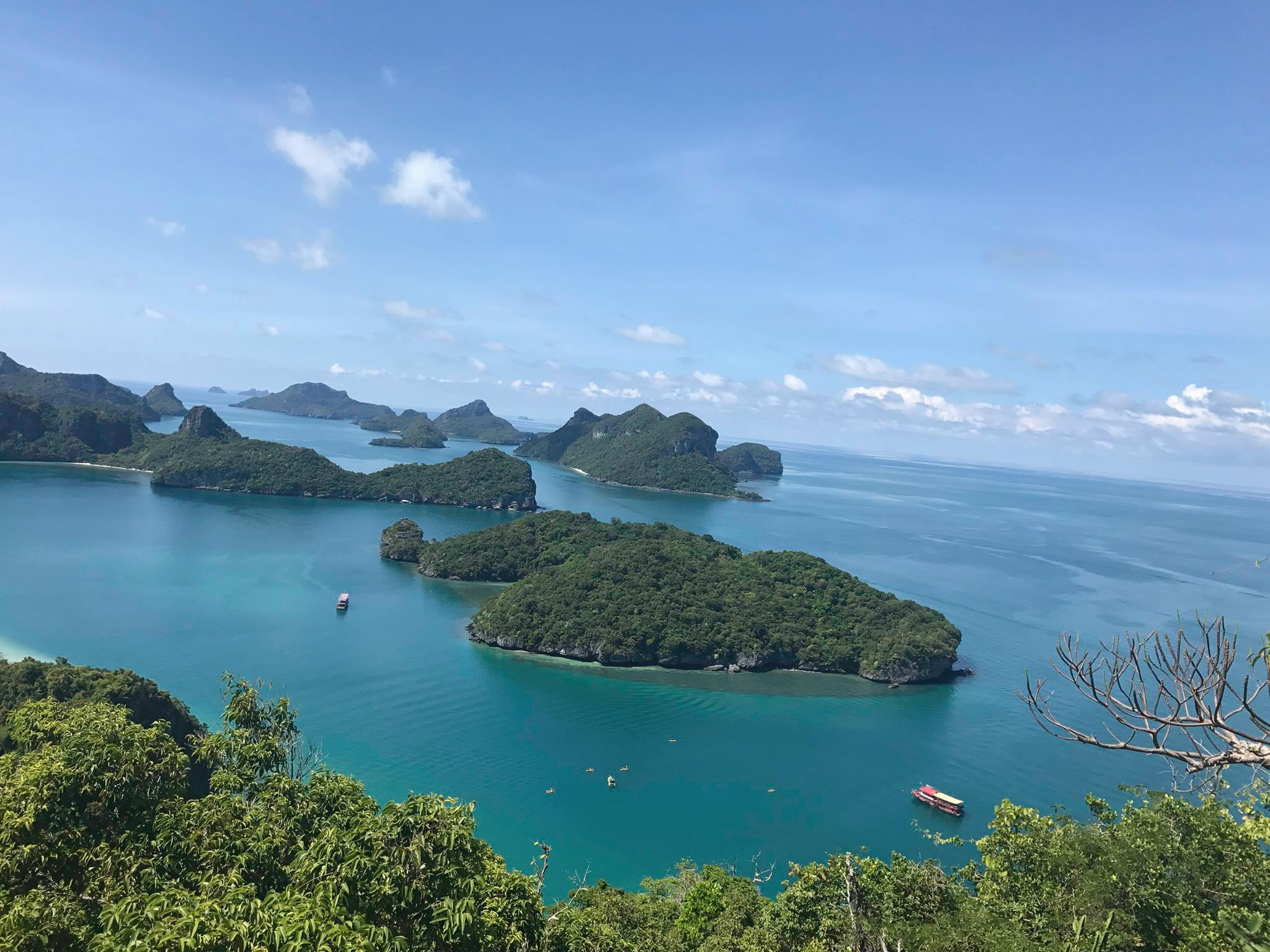 The 42 islands of the Angthong Marine National Park