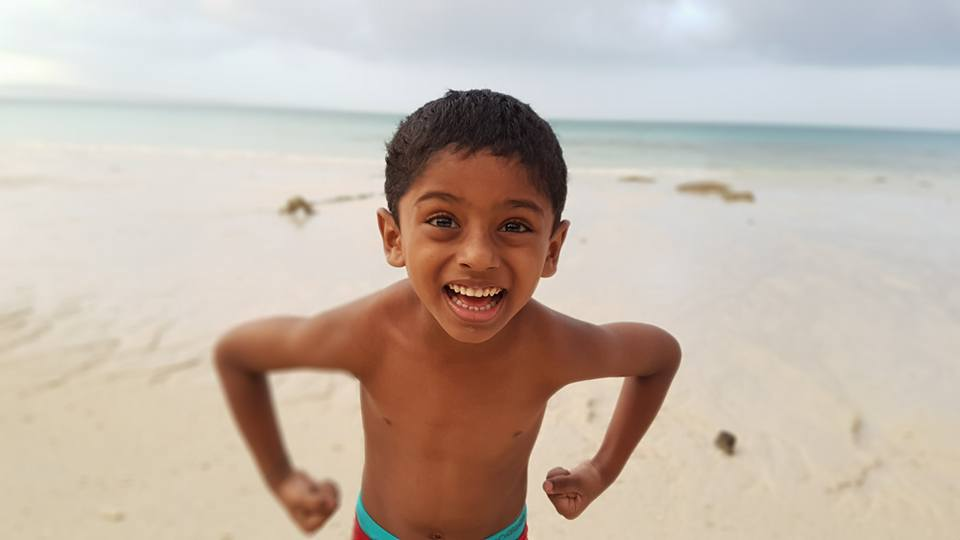 Nandu enjoying with glee abandon at Kalapathar Beach in Havelock Island.