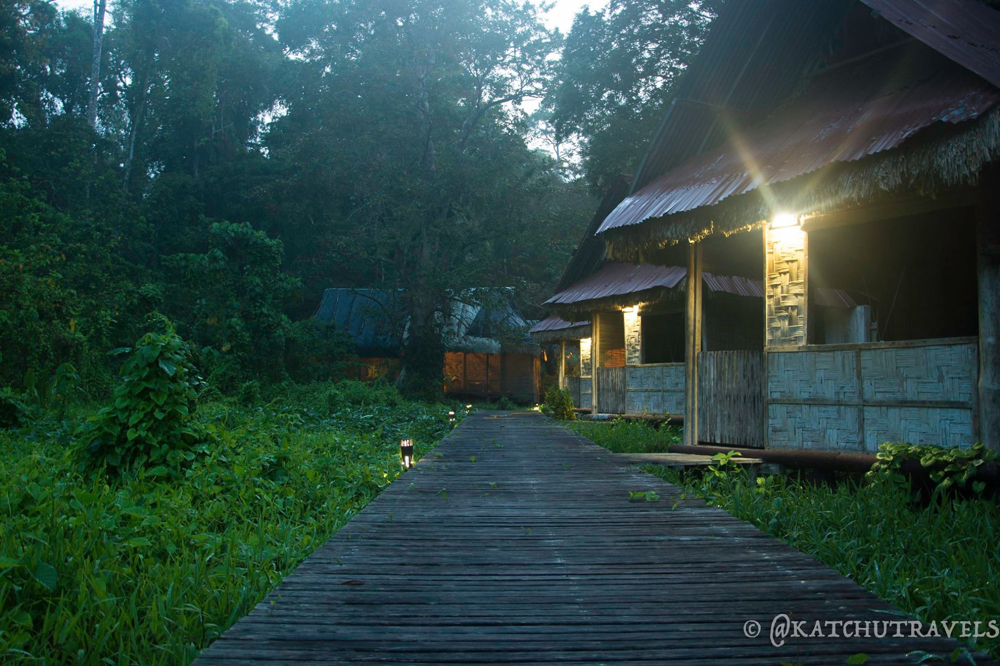 The morning walk across to the reception at Flying Elephants Retreat in Havelock Island-Andaman Islands (India)