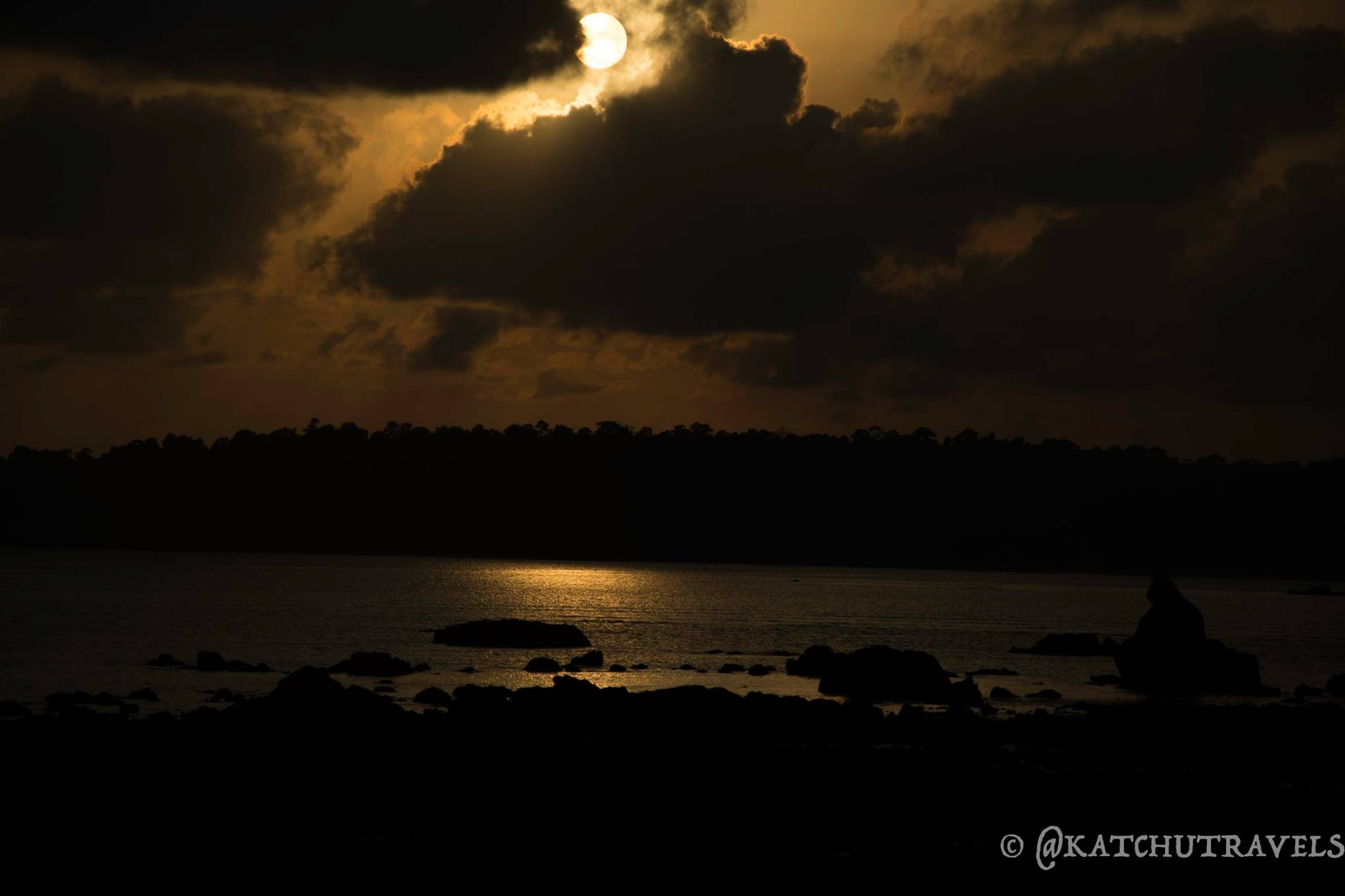 Beautiful Sunset at Munda Pahar Beach (Andaman Islands-India)