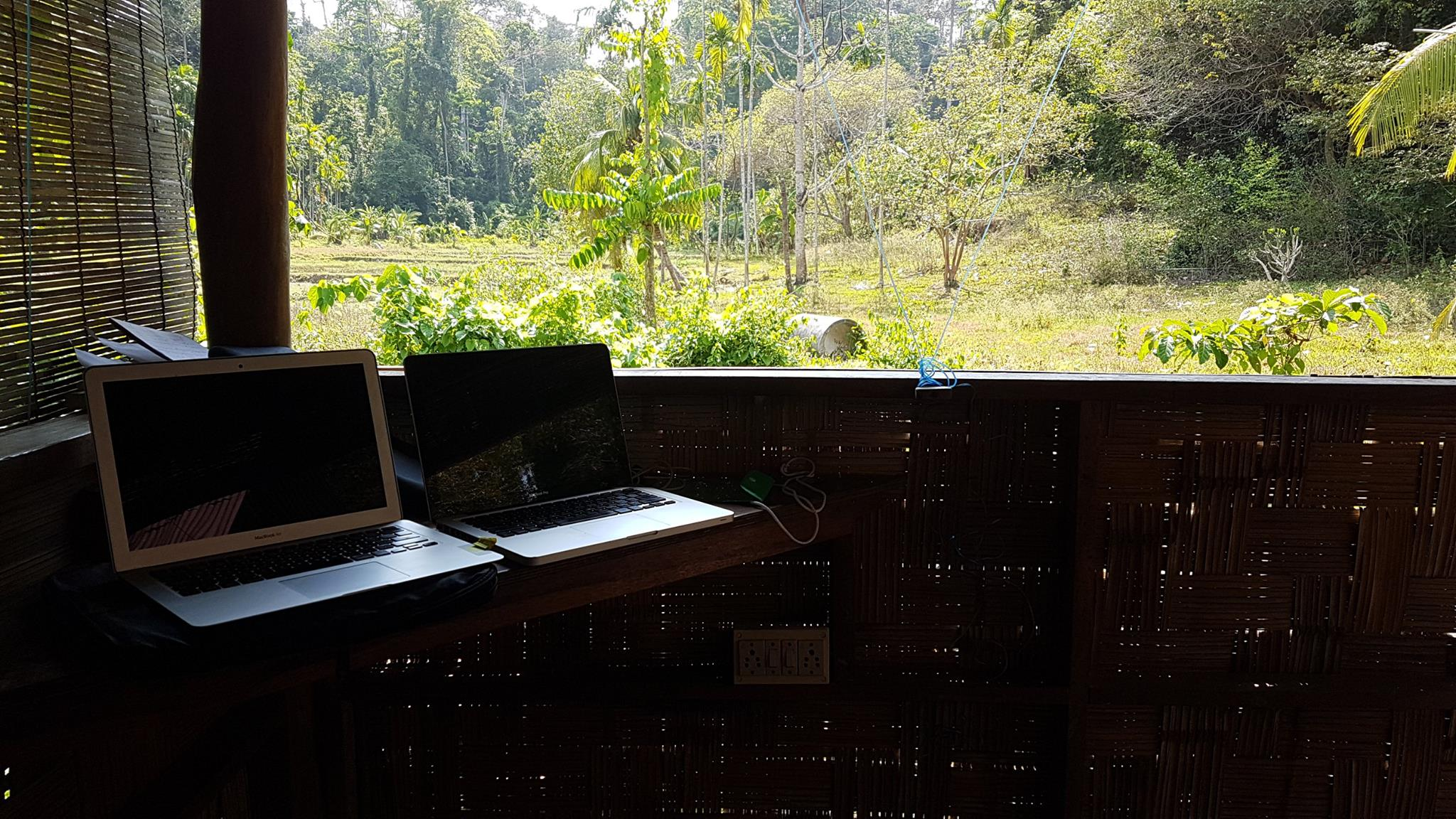 'Working from Home'-View out from my room at Flying Elephants-Andamans
