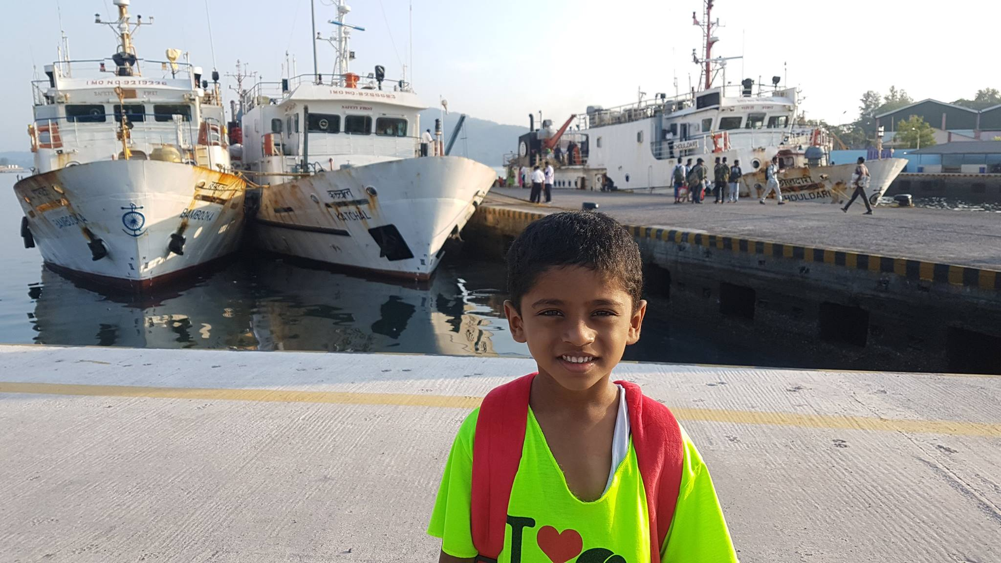 Nandu on his first ship journey
