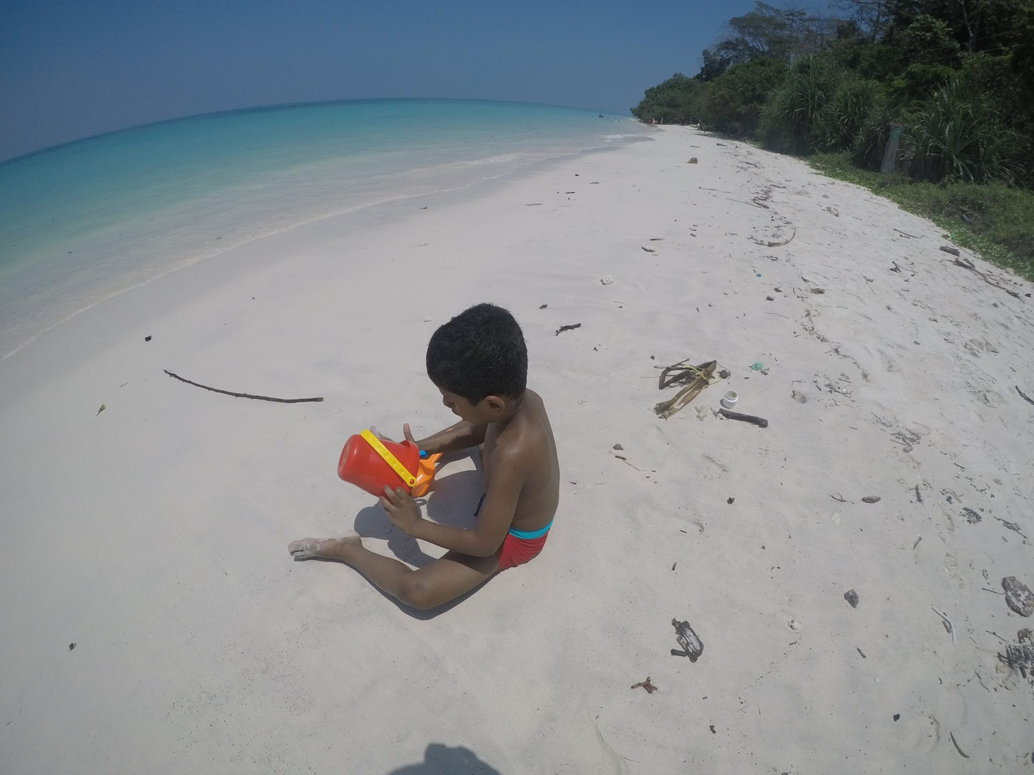 Beach Therapy making sand art at Kalapathar Beach-Havelock Island in Andamans-India