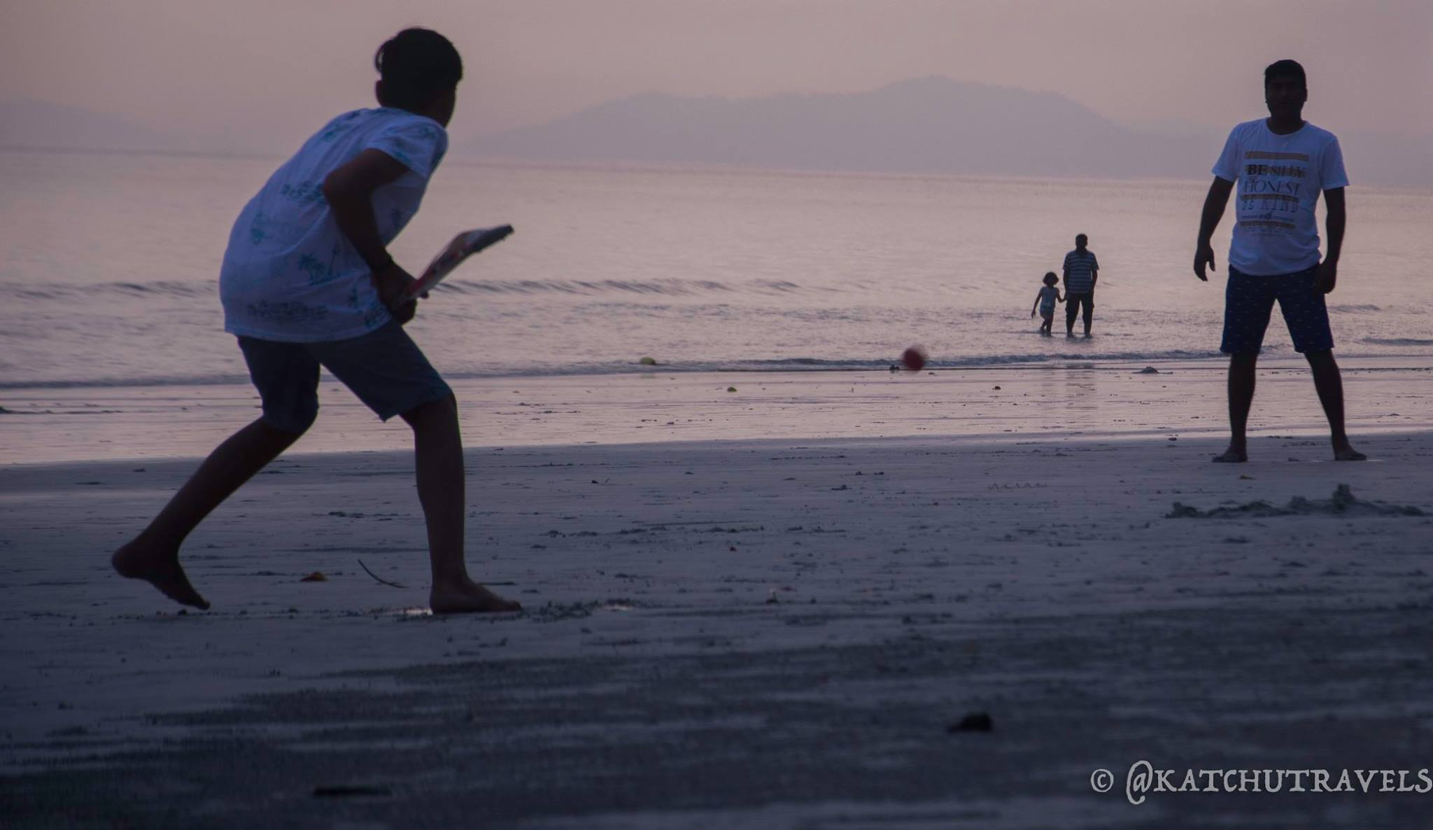 Children playing cricket at Radhanagar Beach-Havelock Island (Andamans-India)