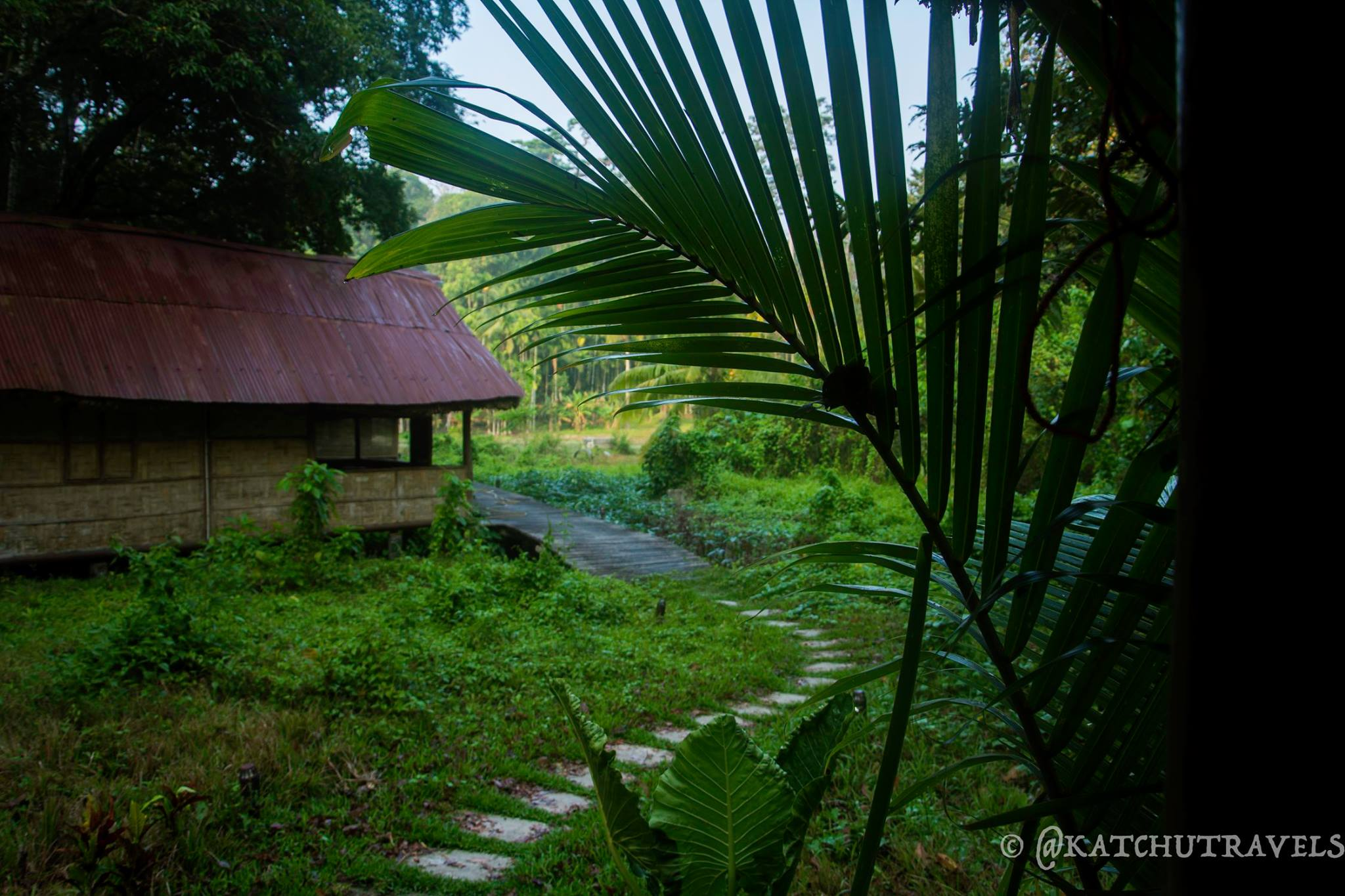 Walking the beautiful paths to the reception-Flying Elephants Resort at Kalapathar(Havelock Island-Andamans-India)