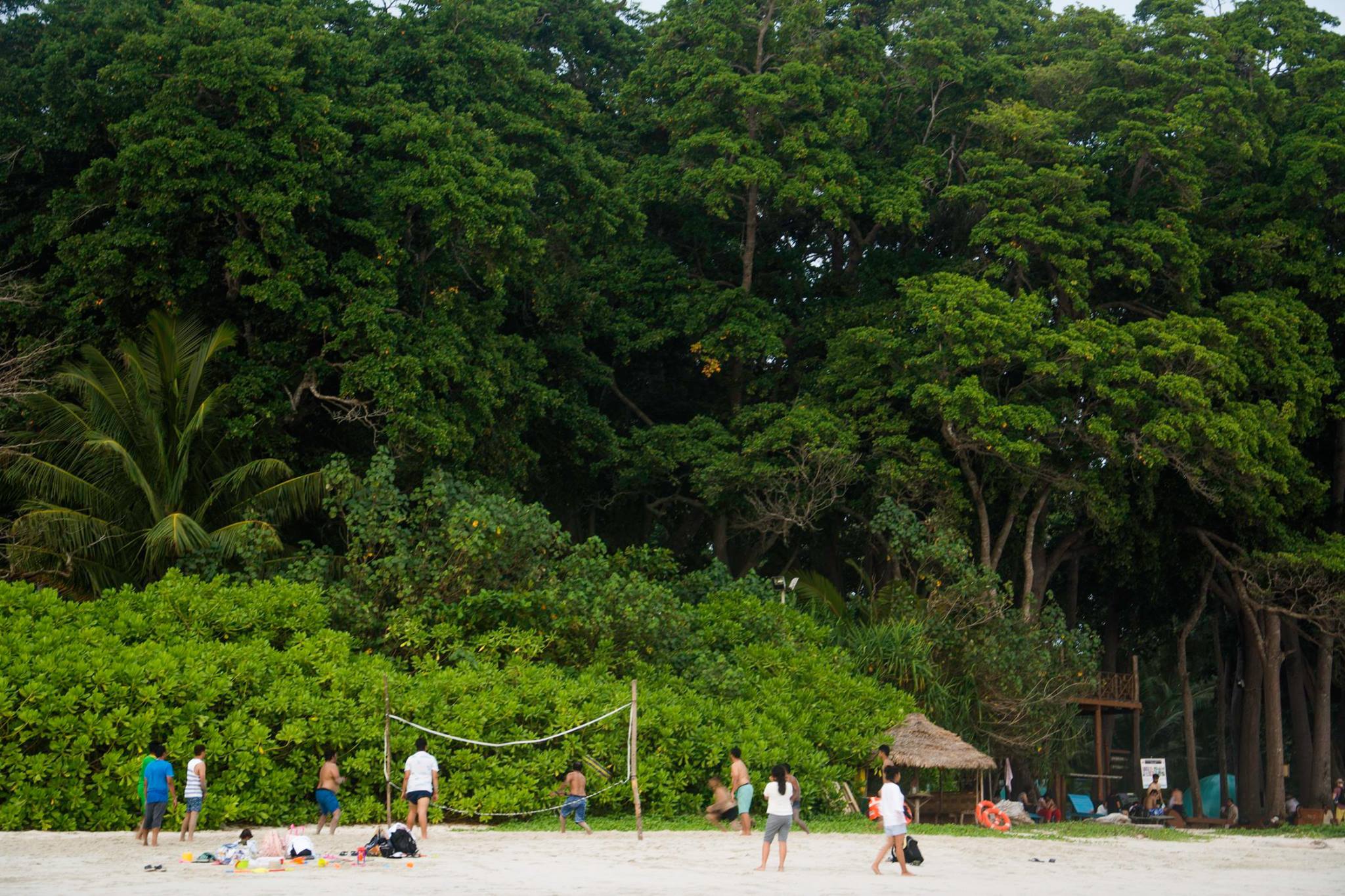 A game of volleyball by the beach for burning calories in Paradise [Radhanagar Beach in Havelock Island-Andamans in India]