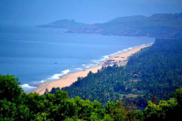 The Konkan Coastline of Gokarna(Karnataka-India) as seen from the hills