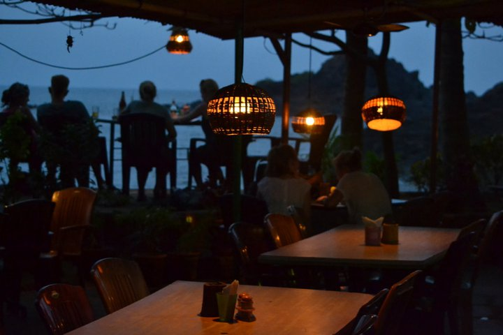 Evenings at Namaste Cafe-OM Beach(Gokarna-Karnataka-India)