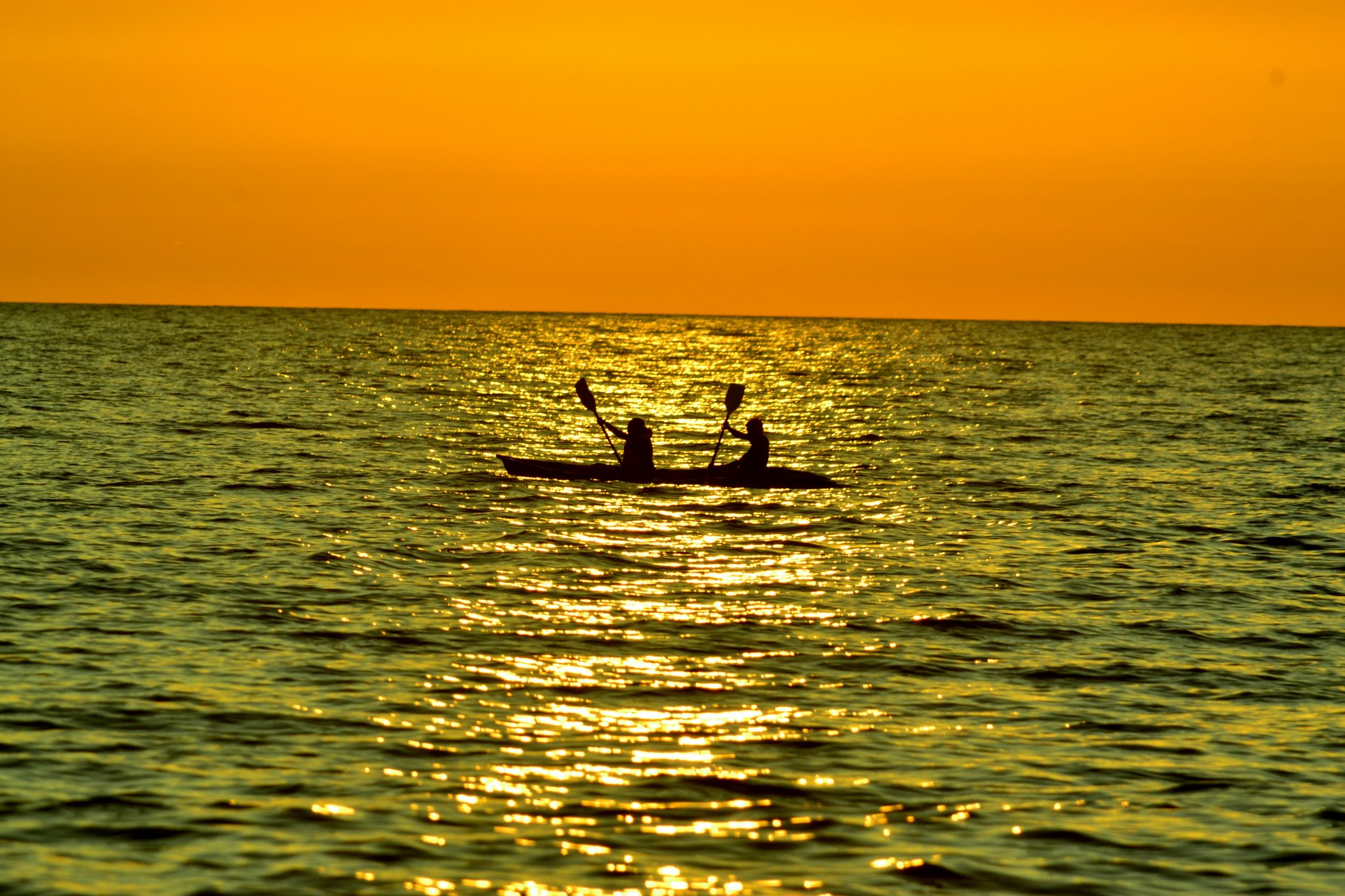 Kayaking into the sunset-Palolem(Goa-India)