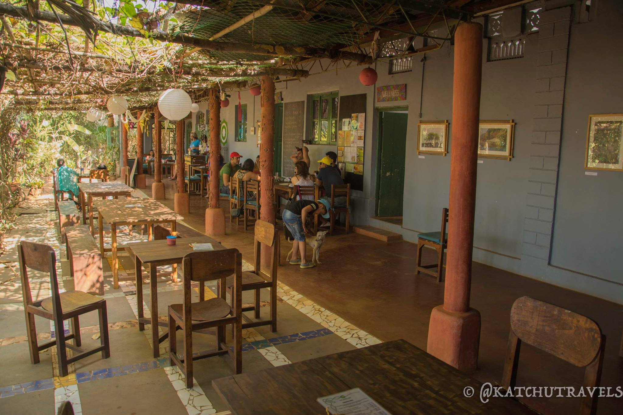 The Space(Devbag) has an Old-Goa rustic and chic look to it