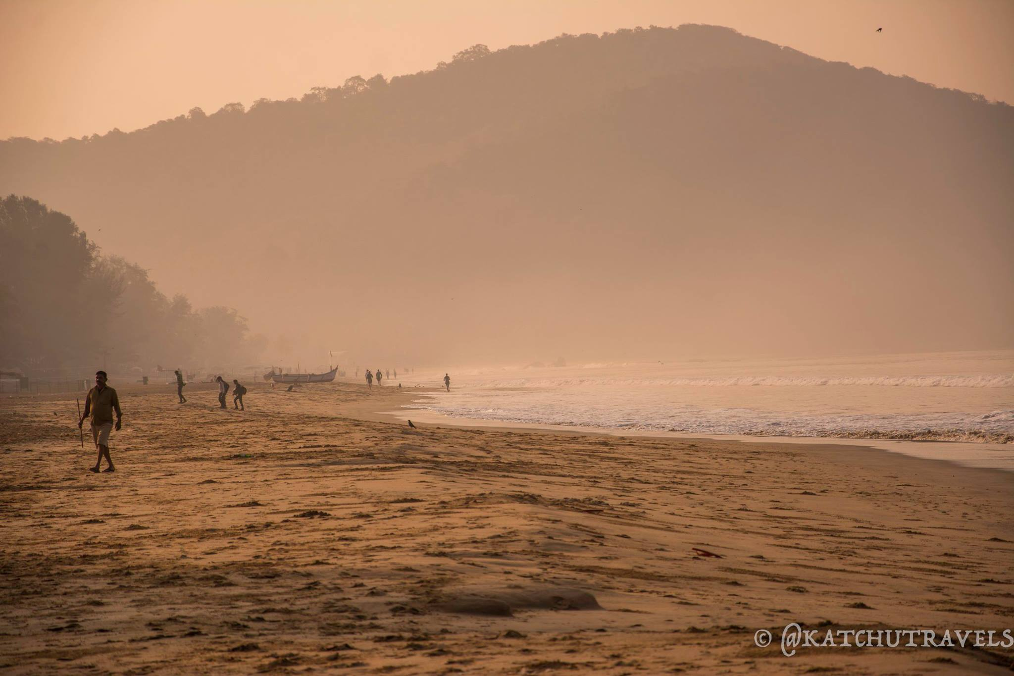 Winter morning hues in Agonda Beach (Goa-India)