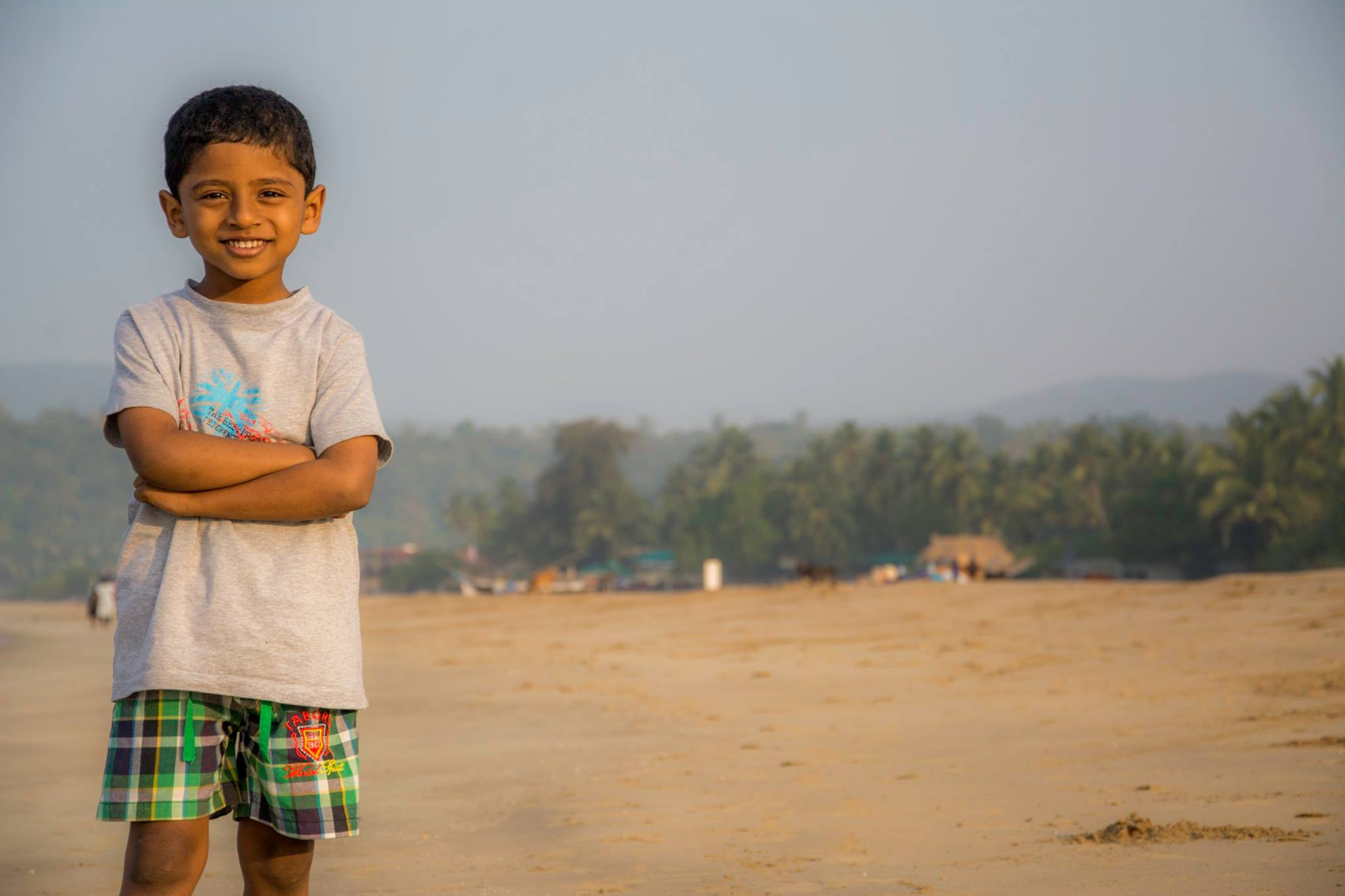 Nandu posing at Agonda Beach