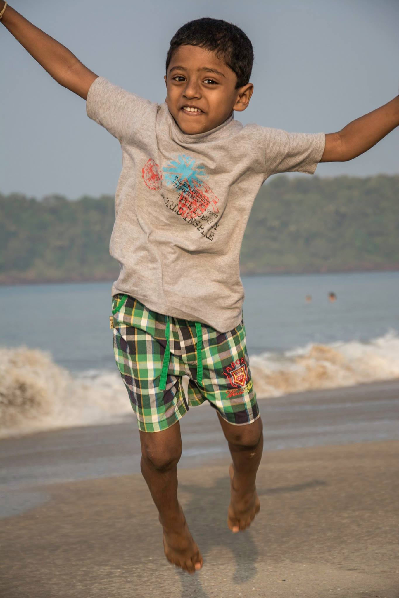 Nandu jumping around at Agonda