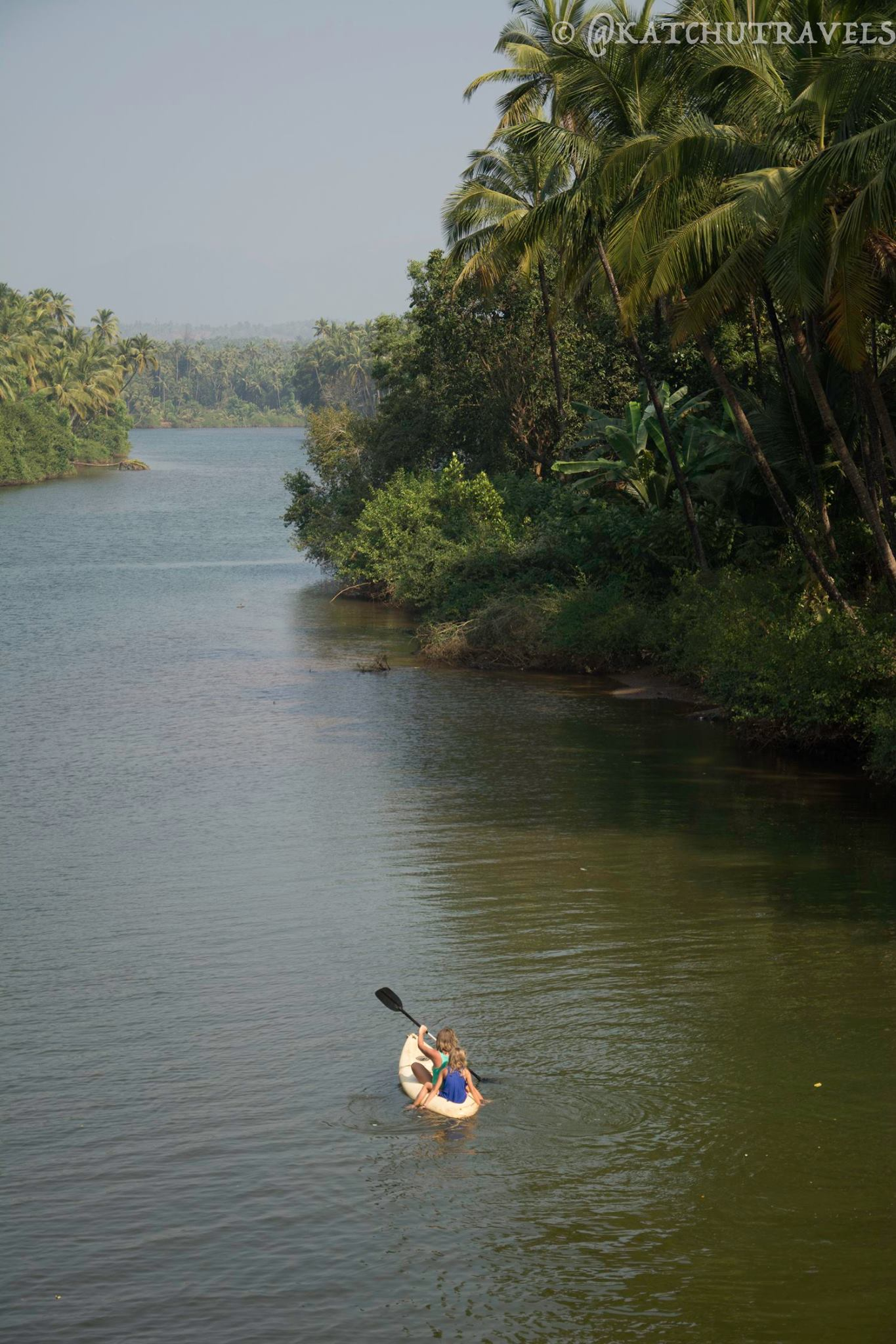 The Galjibag river that opens out into the Arabian Sea (South Goa-India)