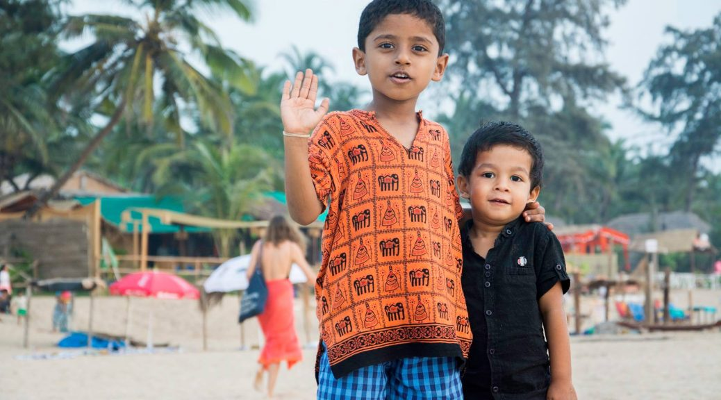 Nandu and Manny [Kid of Manveer] at Agonda Beach