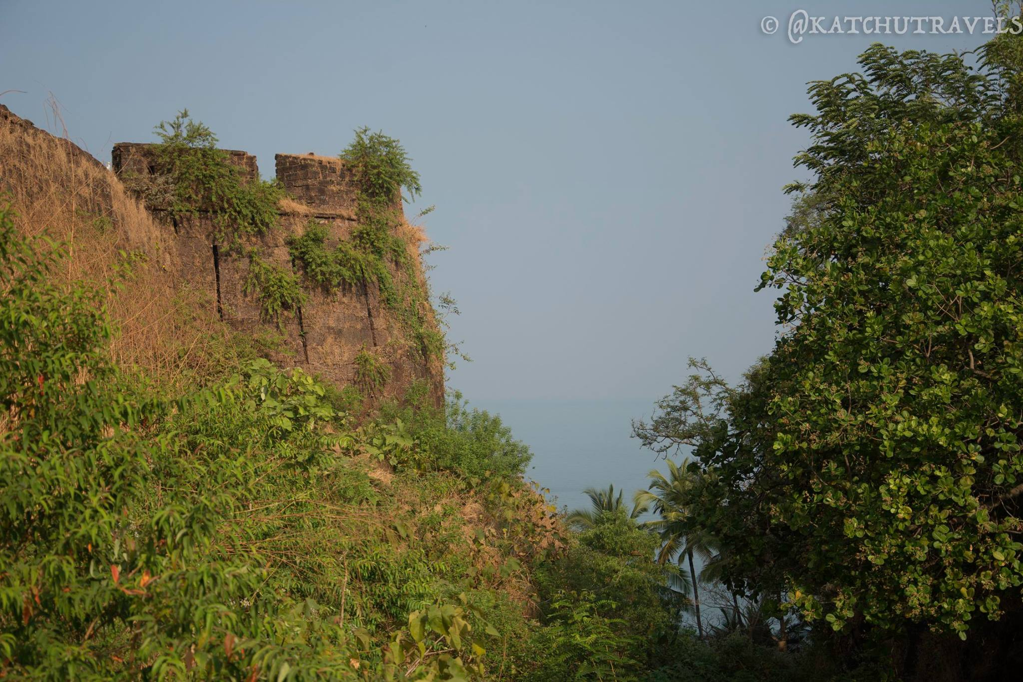 The view of Arabian Sea from the Cabo De Rama Fort [South Goa-India]