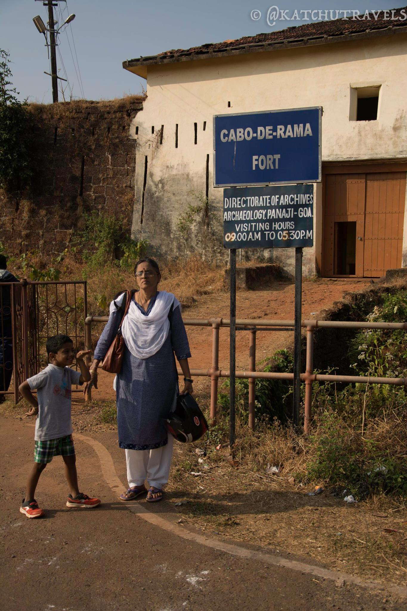 Outside the entrance of the Cabo De Rama Fort [South Goa-India]