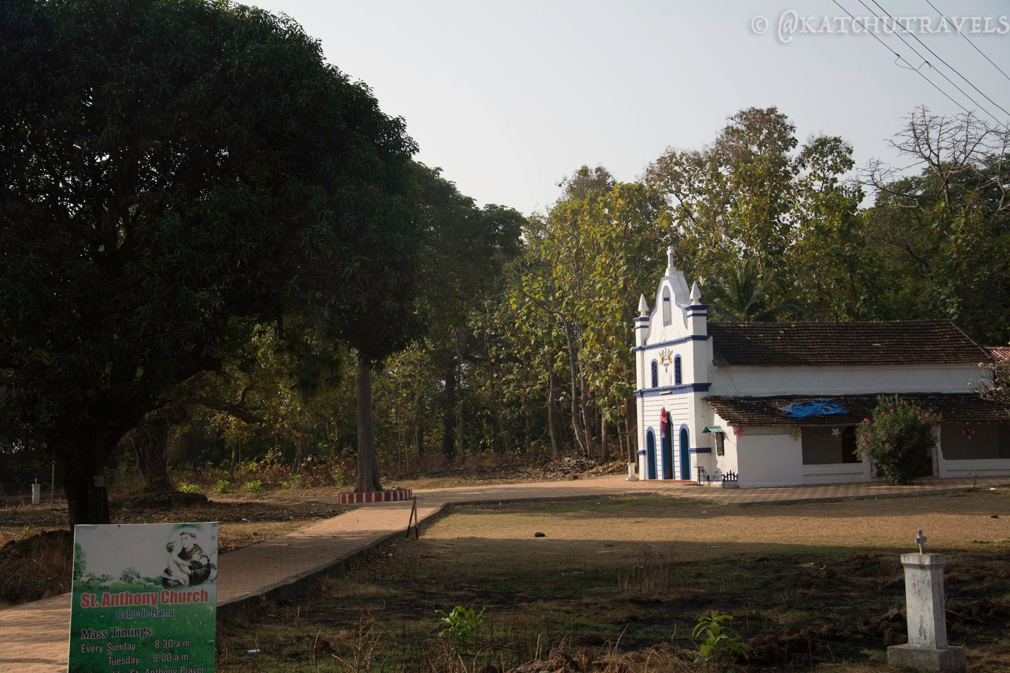 A church inside a fort- It happens Only in Goa [St Anthony's Church in Cabo De Rama Fort-South Goa-India]