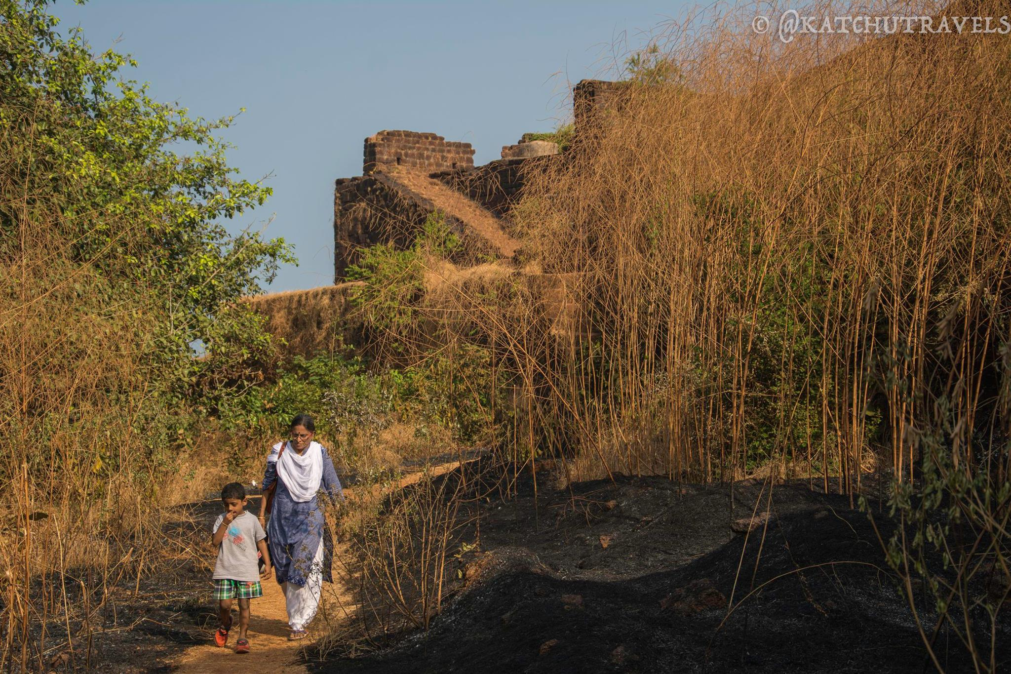 The Cabo De Rama Fort is home to some wild growth due to neglect-[South Goa-India]