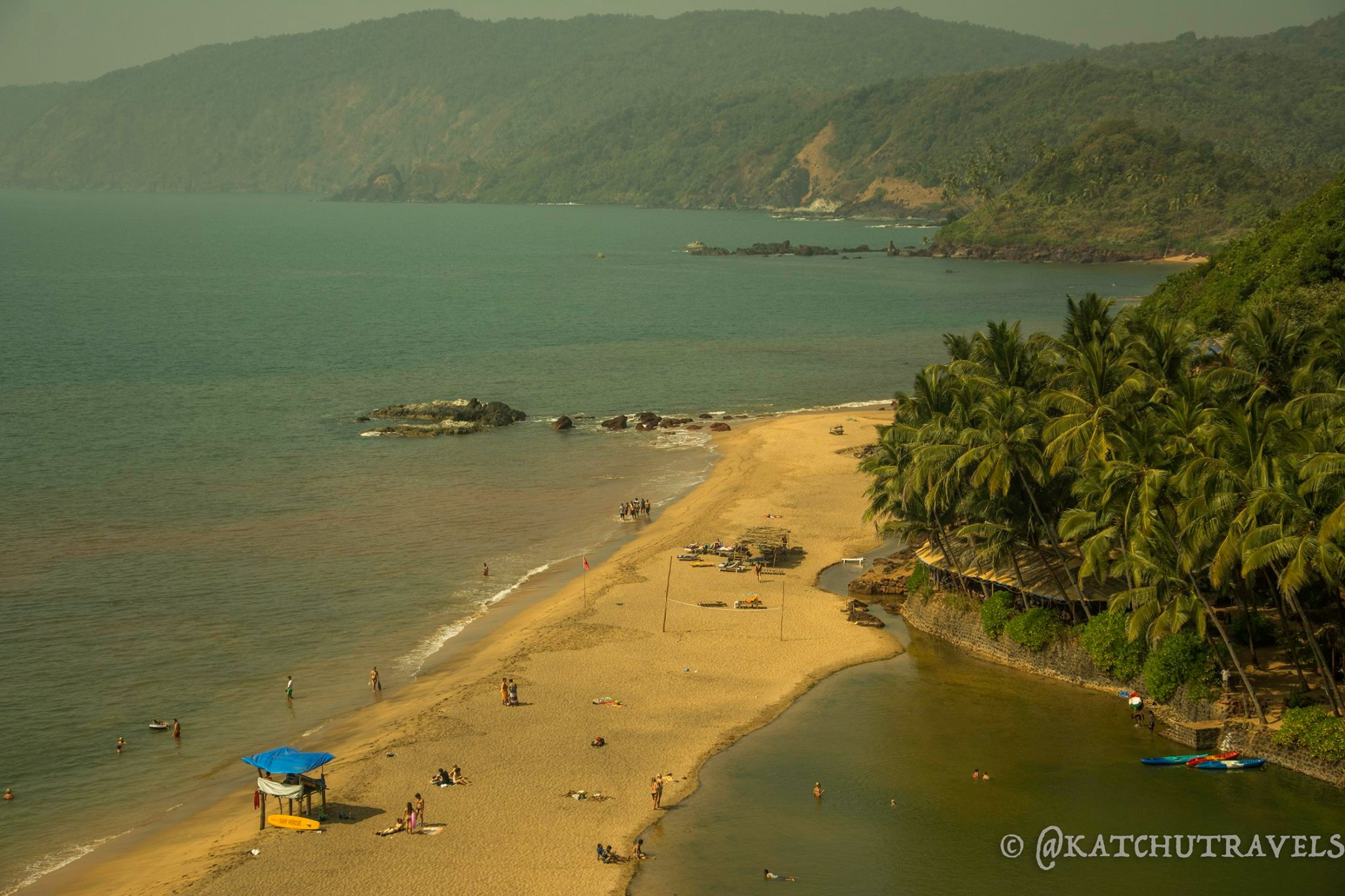 A clearer vision of the beauty of Cola Beach from the hills [South Goa-India]