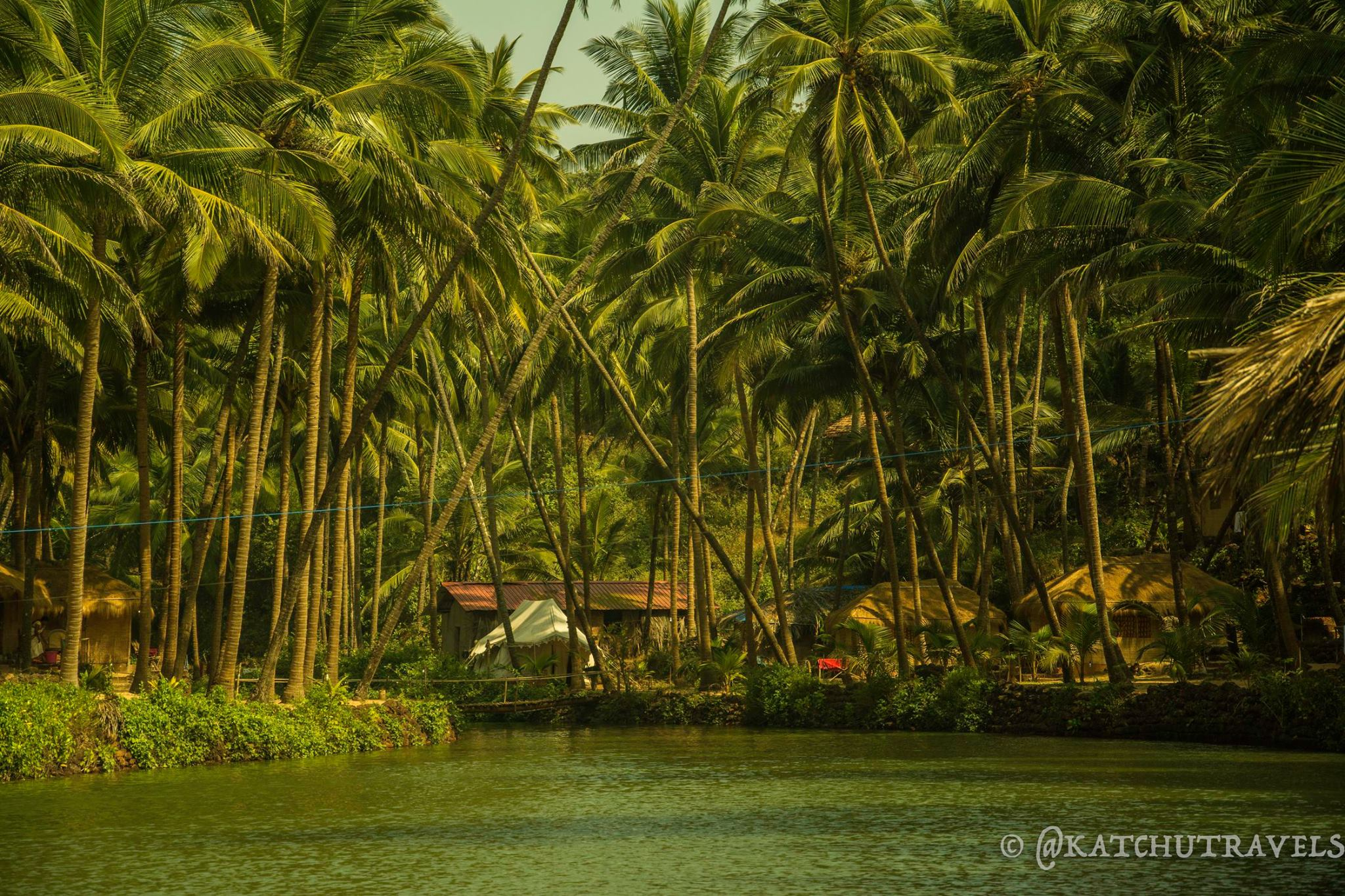The meandering lagoon at Cola Beach [South Goa-India]