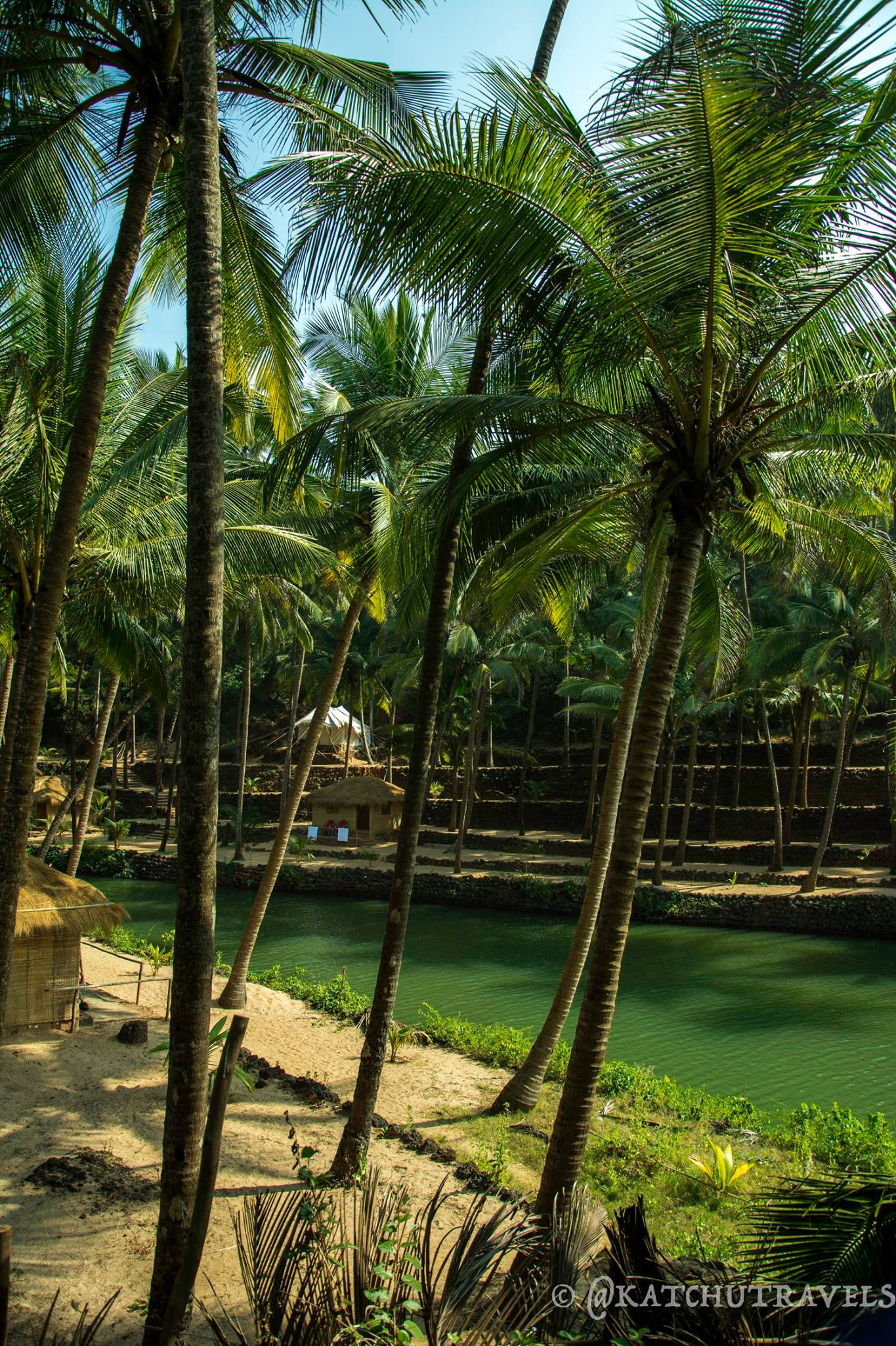 The beautiful Cola Village with the lagoon running deep inside the village [South Goa-India]