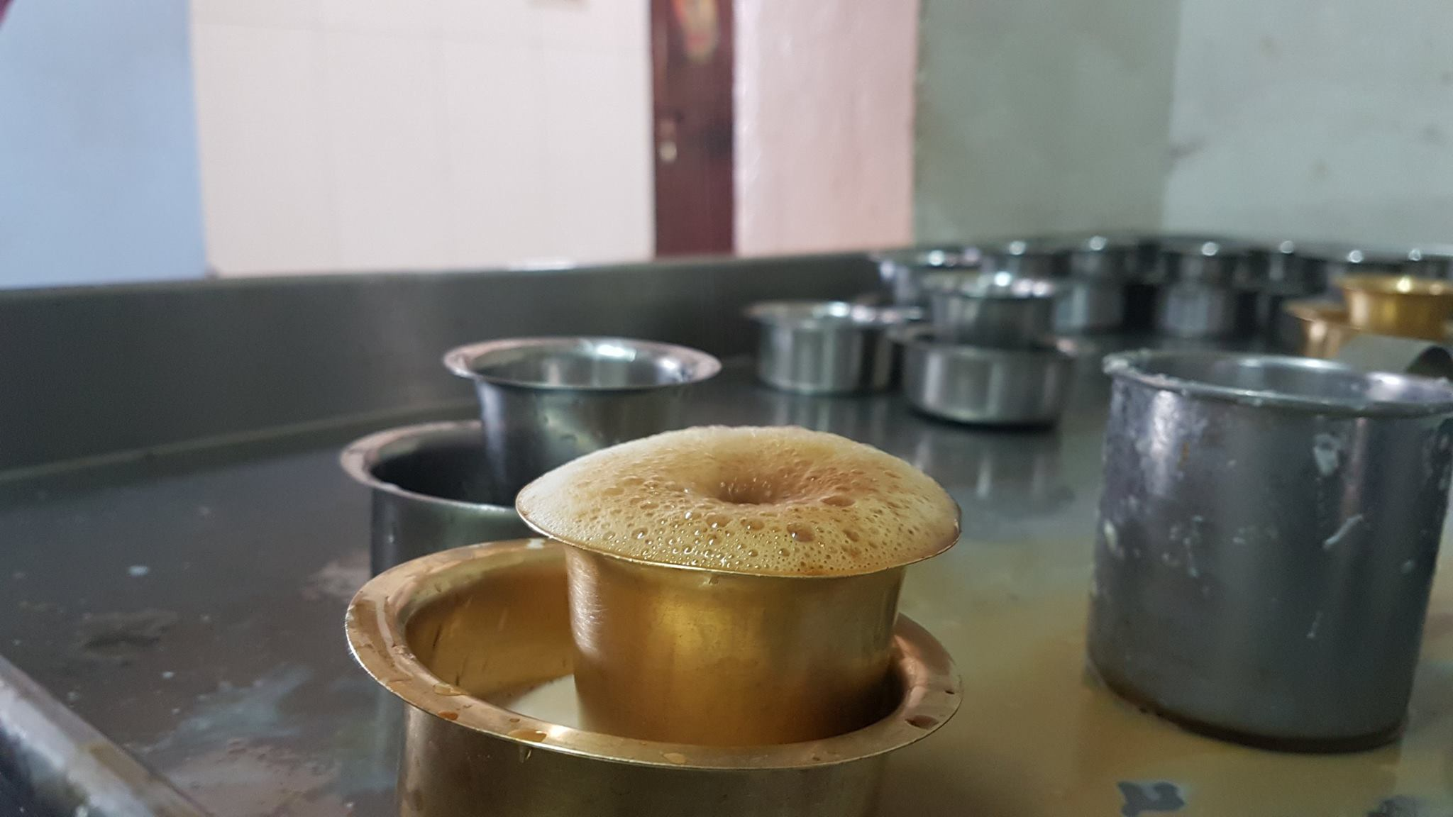 Degree Coffee in a Brass Dabara-Kumbakonam
