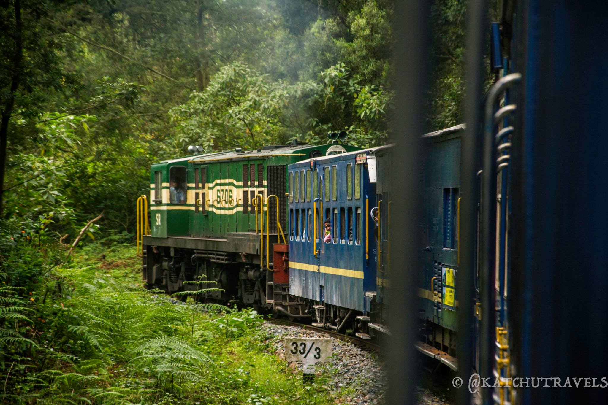 Footboard View of the Nilgiri Mountain Railway Toy Train