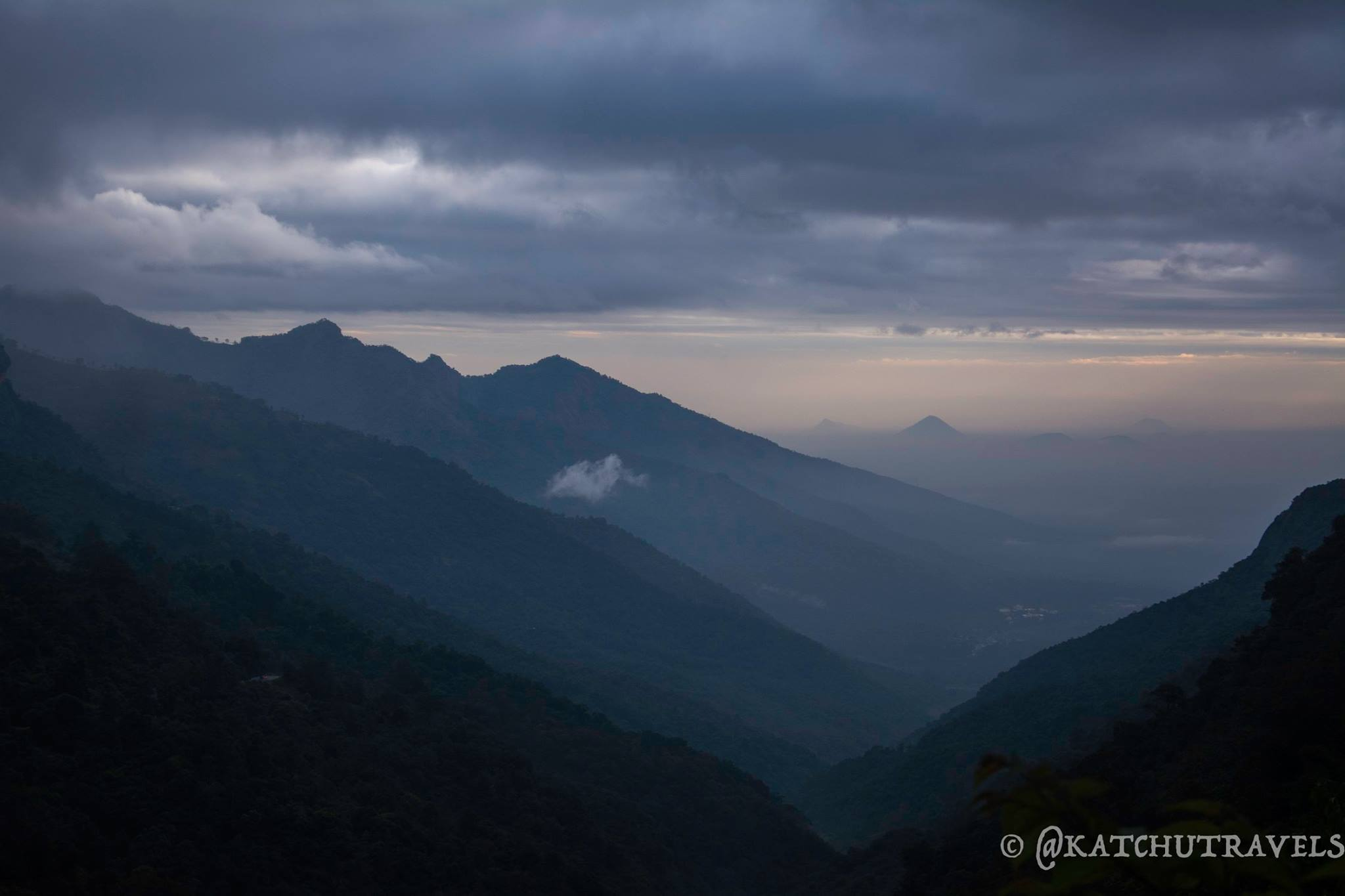 Beautiful view of mountains en-route Coonoor