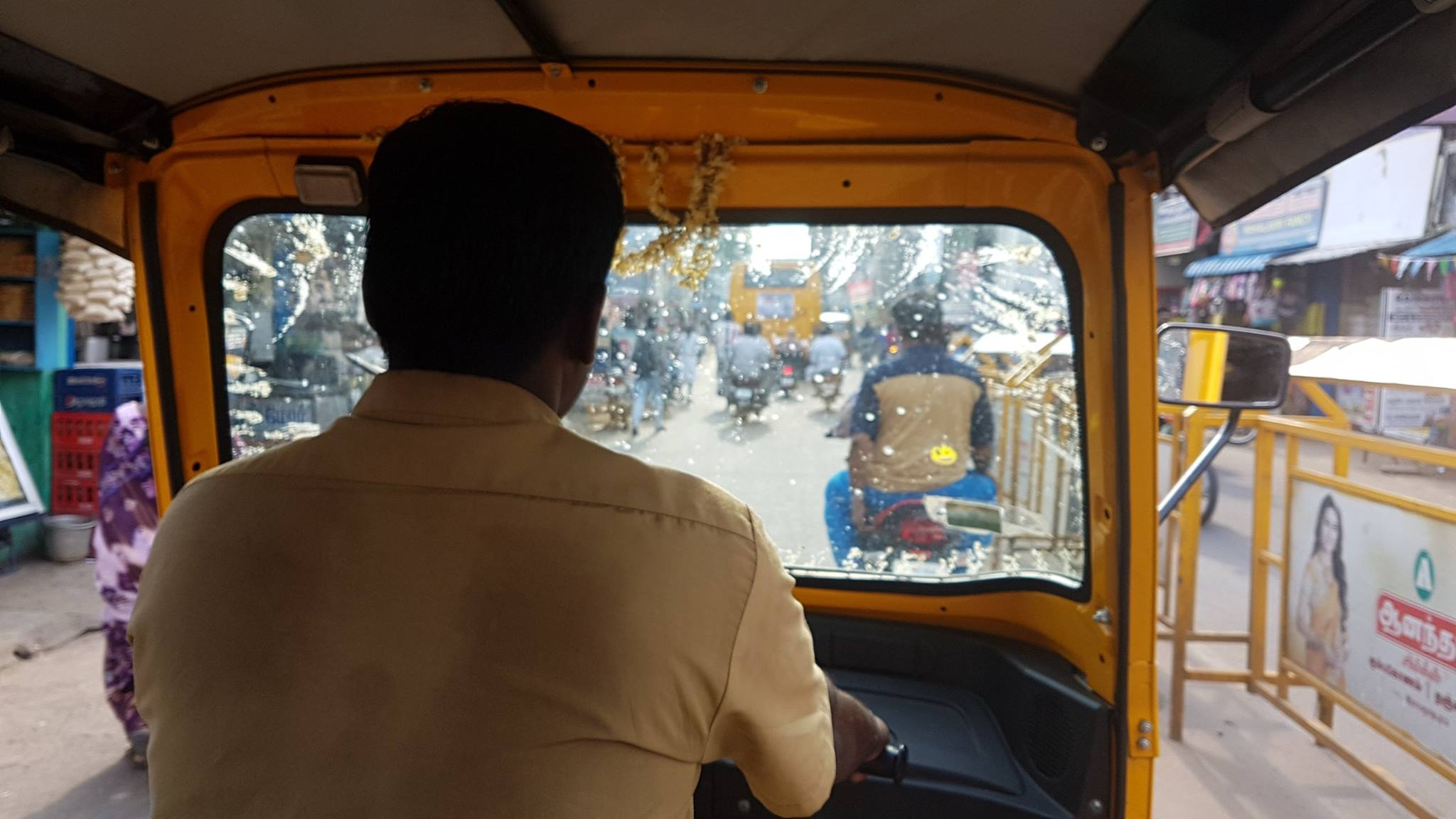 The auto driver taking me through Kumbakonam