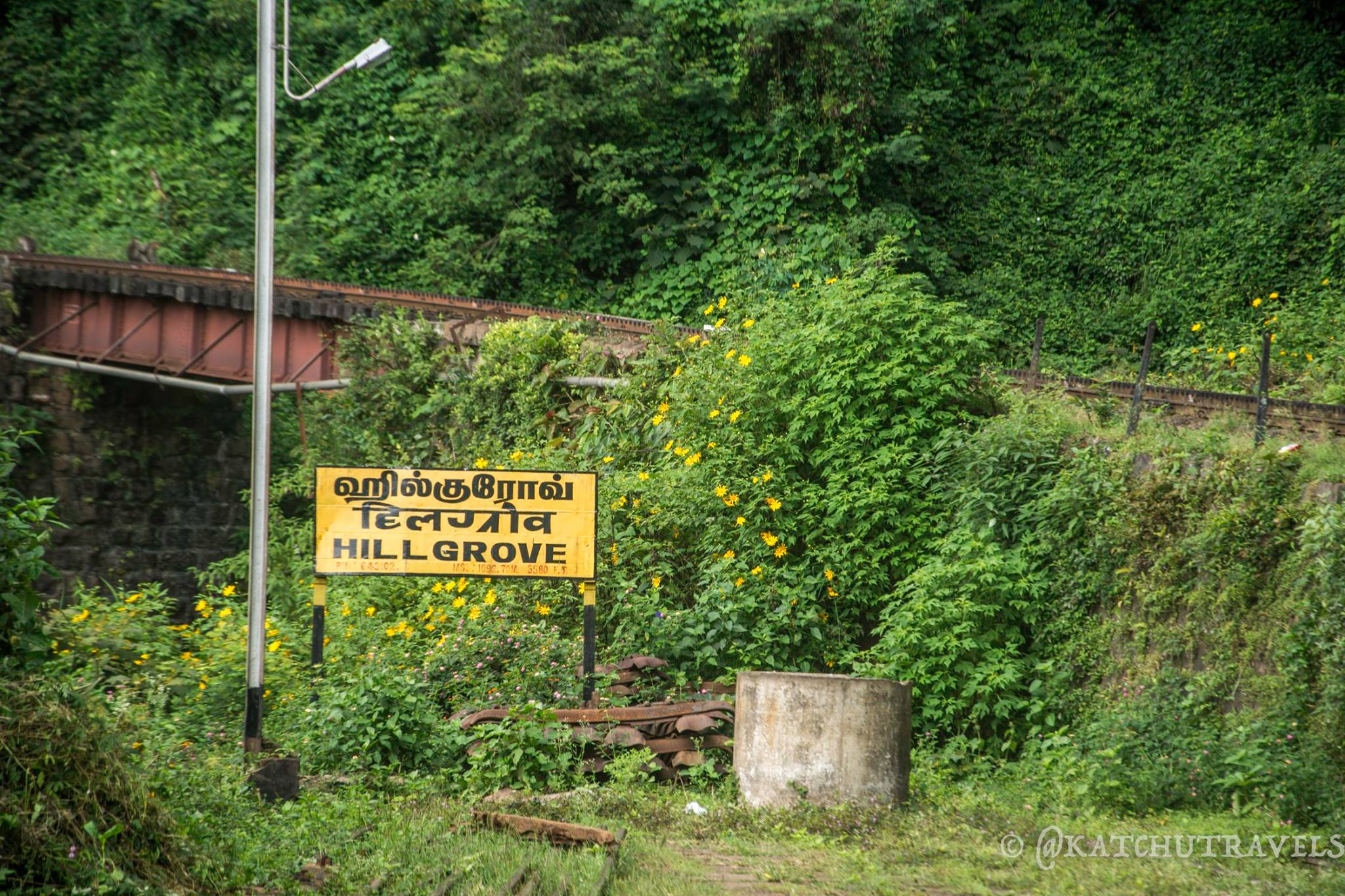 Hillgrove Railway Station on the Nilgiri Mountain Railway
