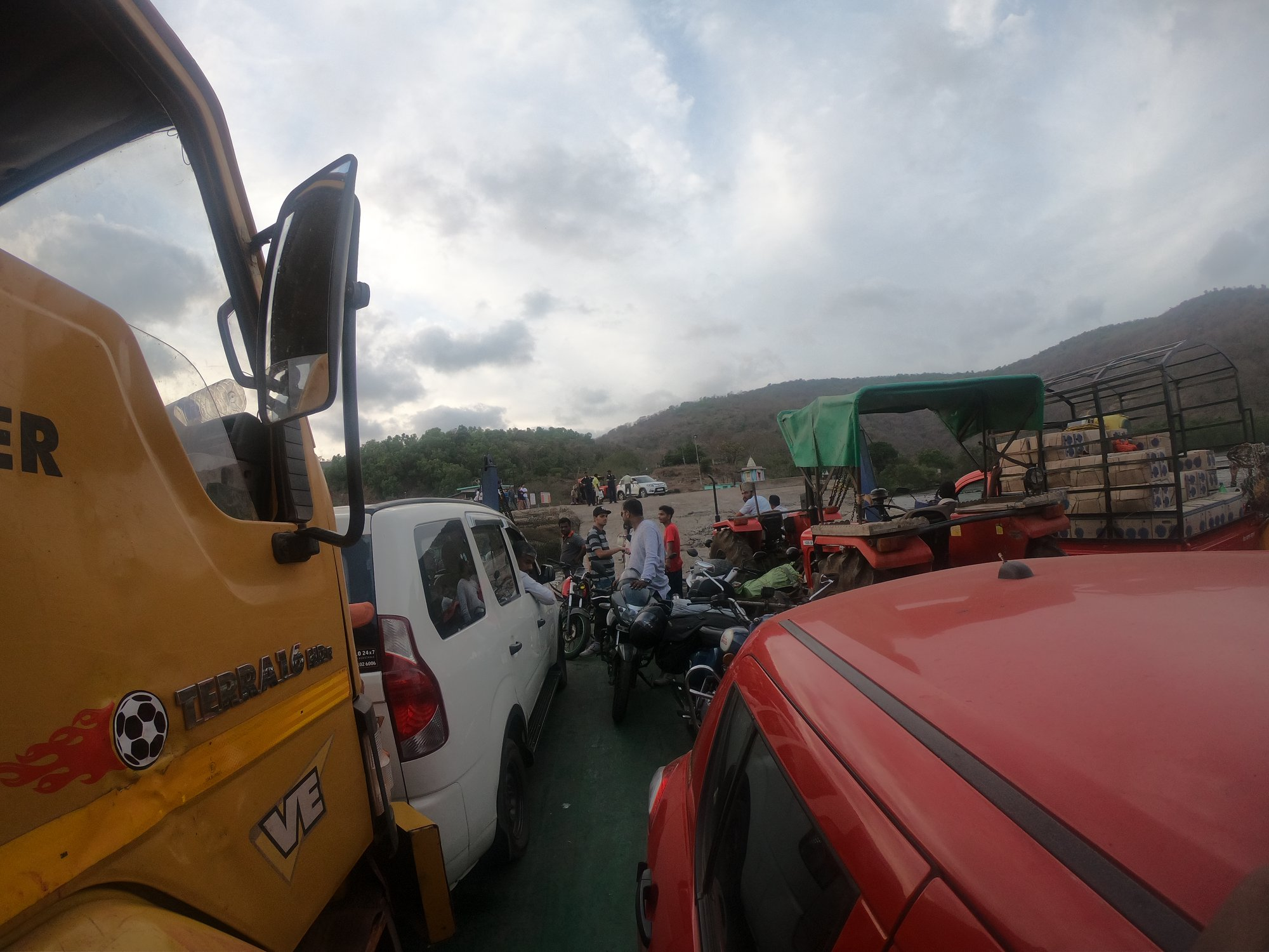Jammed on all sides in the Bagmandala Ferry