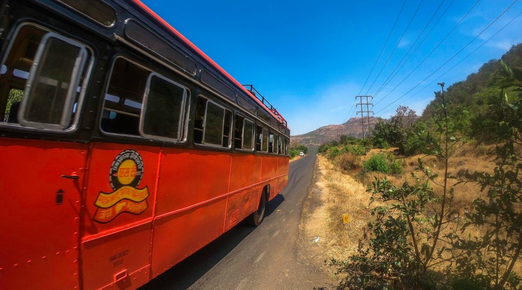 Bus Ride on Tamhini Ghat Road from Pune