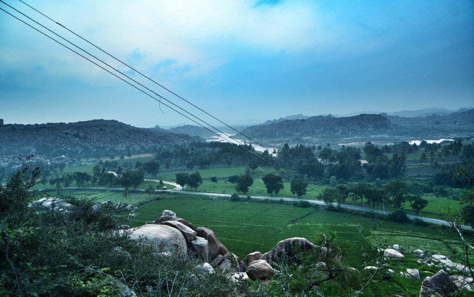Beautiful Views of Hampi from Anjanadri Hill