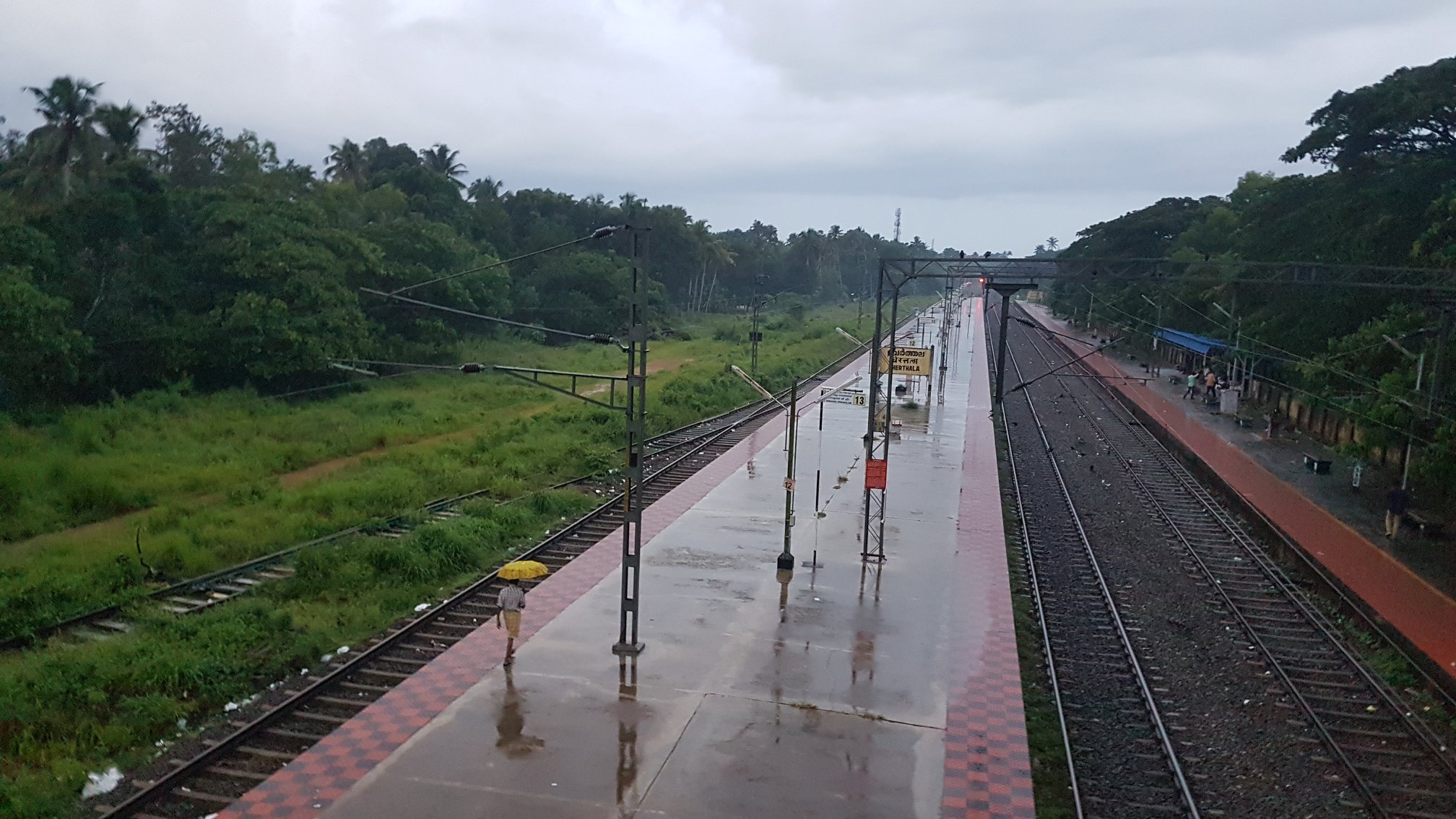 Wet Morning in Cherthala (Kerala)