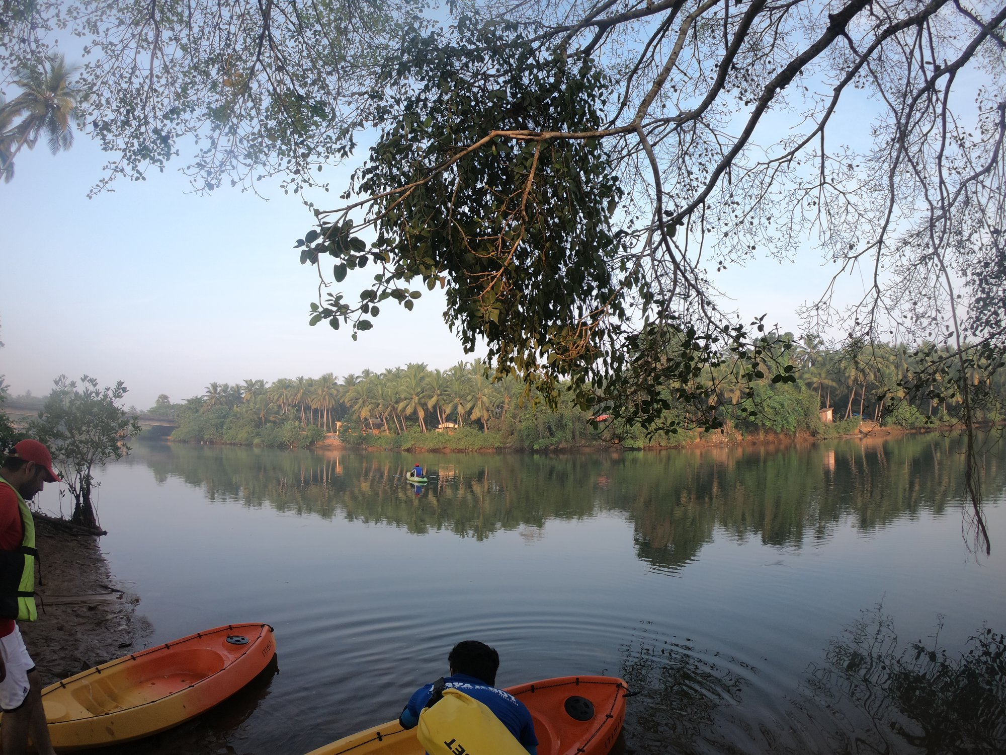 Camp Site-Kayak Parking on Shambhavi River (Mulki-Karnataka)
